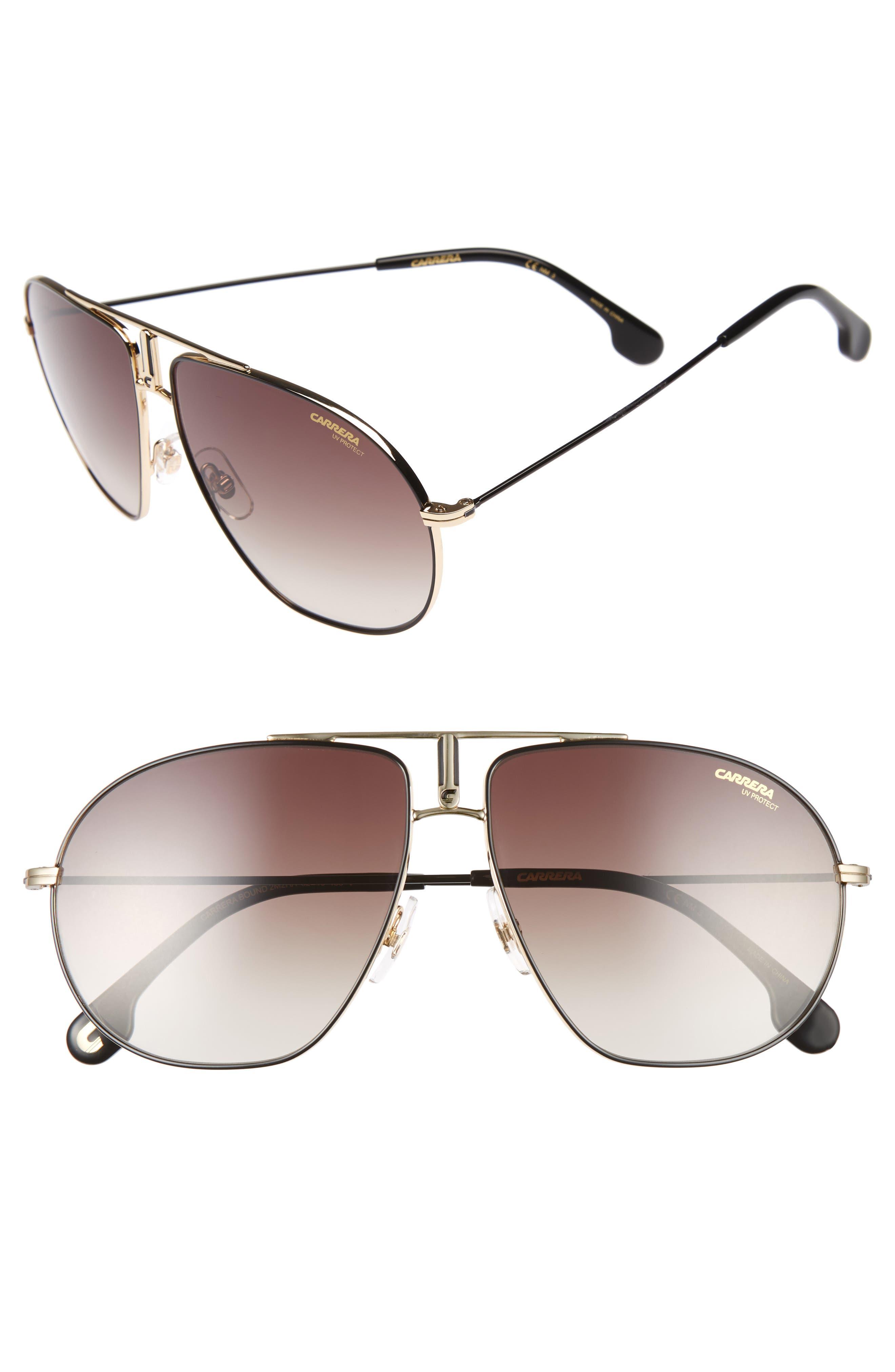 Carrera Bound 62mm Sunglasses,                         Main,                         color, Black Gold