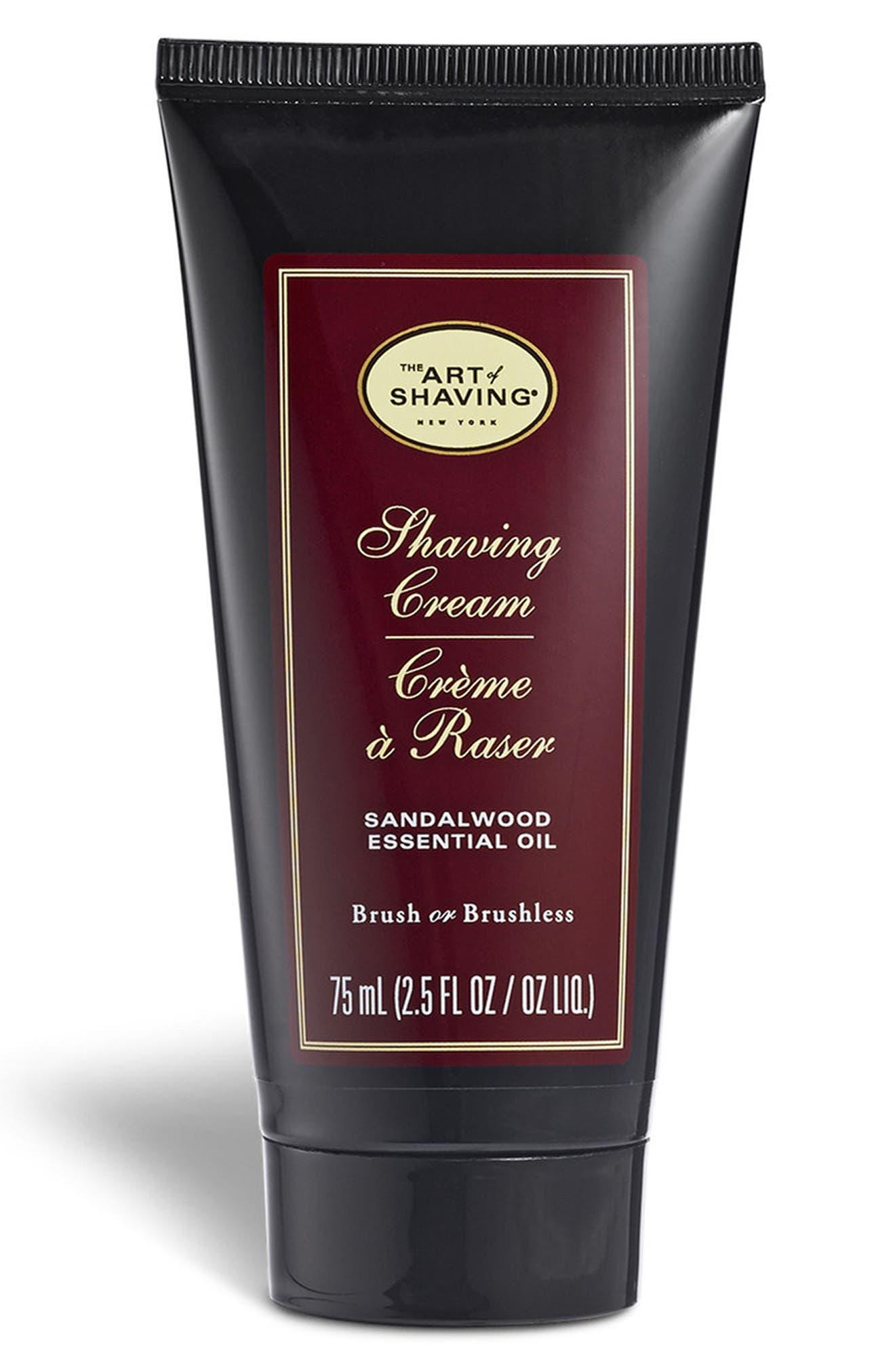 Sandalwood Shaving Cream Tube,                         Main,                         color, No Color