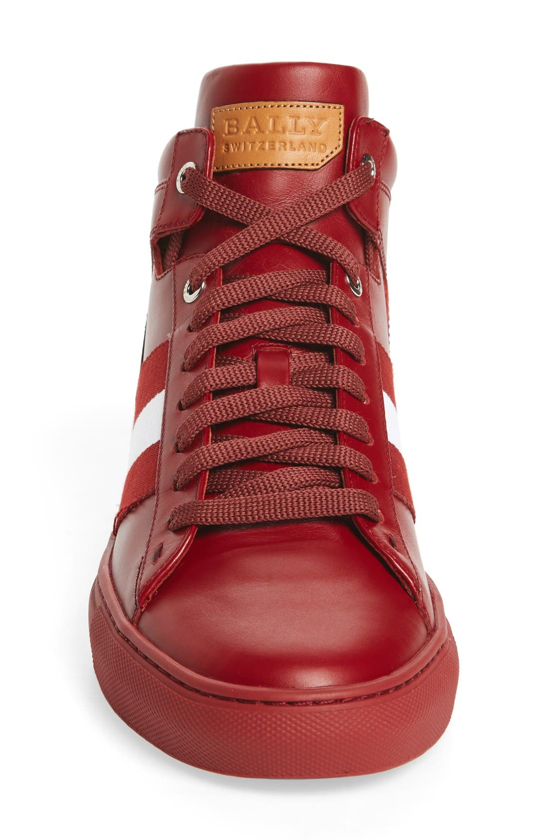 Hedern Sneaker,                             Alternate thumbnail 3, color,                             Red Leather