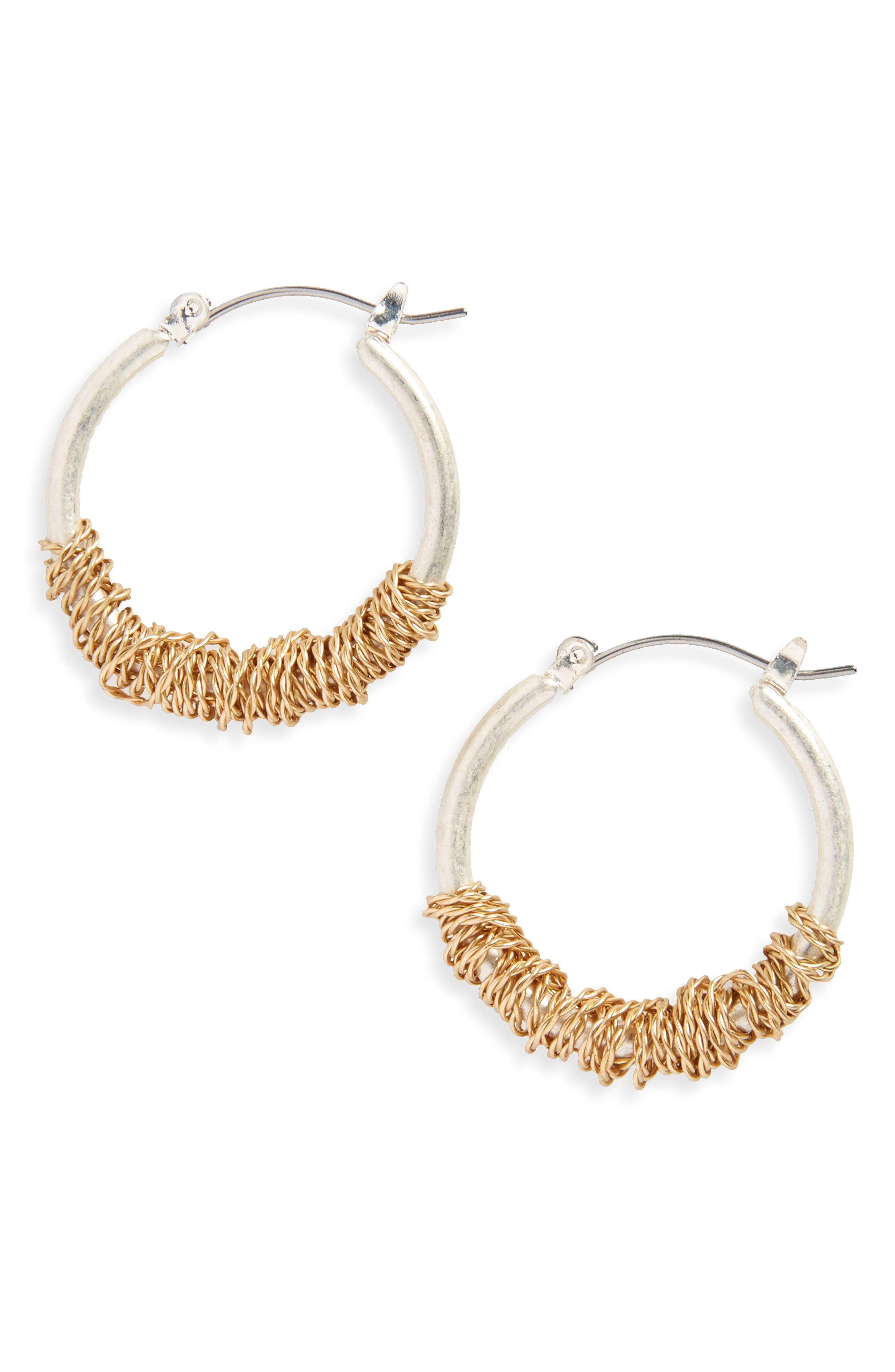 CANVAS JEWELRY Wrapped Hoop Earrings
