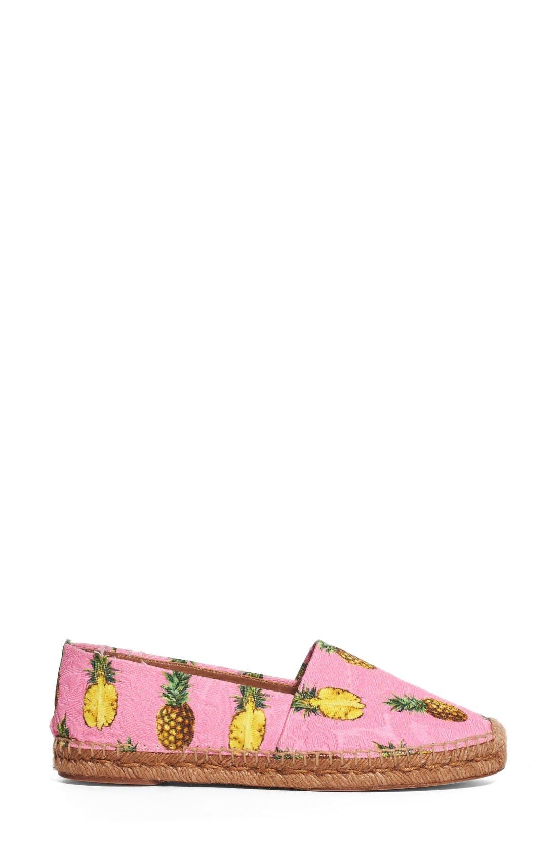 Alternate Image 4  - Dolce&Gabbana Pineapple Print Espadrille Flat (Women)