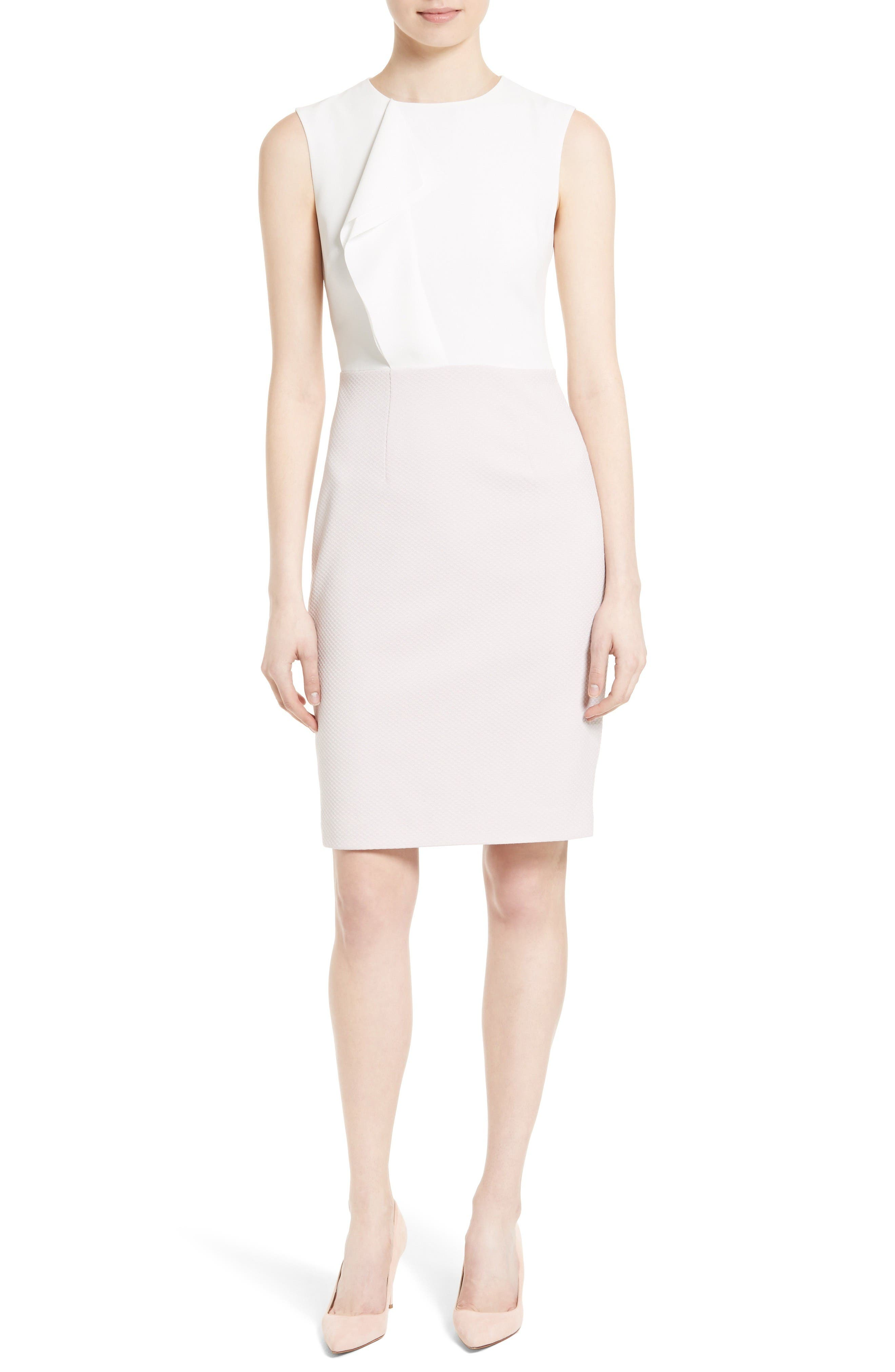 Dress for Women, Evening Cocktail Party On Sale, Baby Rose, Viscose, 2017, 10 12 14 Twin-Set
