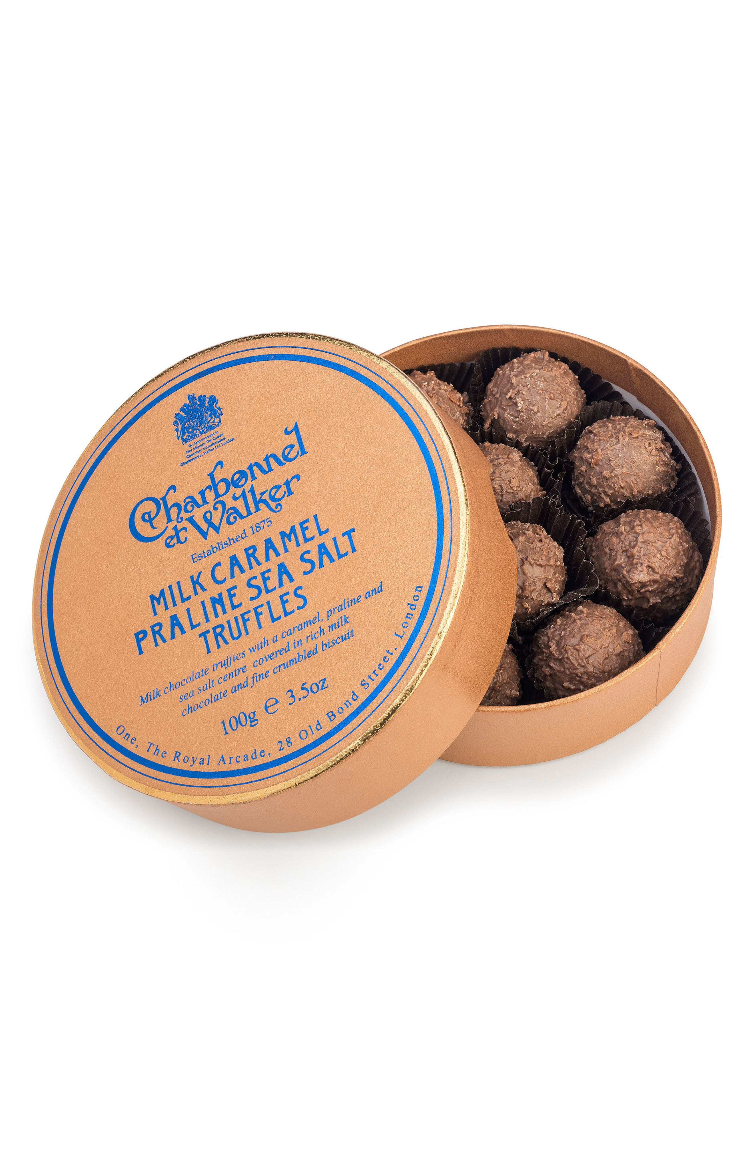 Flavored Chocolate Truffles in Gift Box,                         Main,                         color, Sea Salt/ Praline Caramel