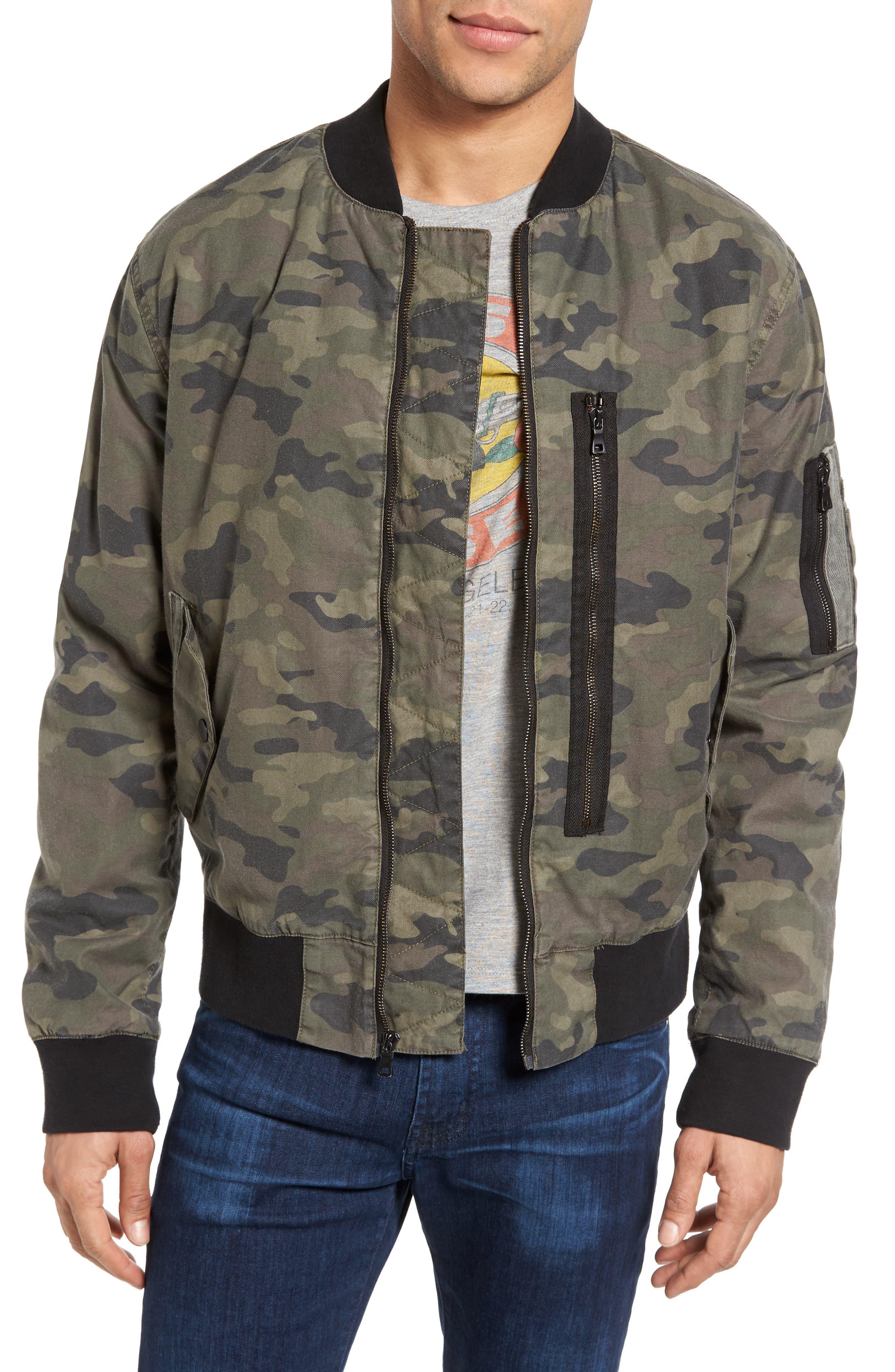 Knox Twill Bomber Jacket,                             Main thumbnail 1, color,                             Infantry Camo