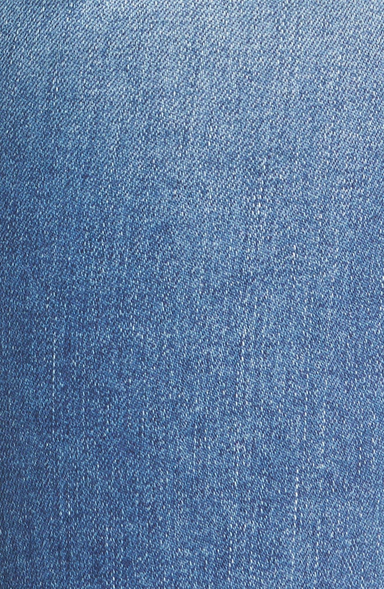 Tilda Crop Straight Leg Jeans,                             Alternate thumbnail 5, color,                             Impulse