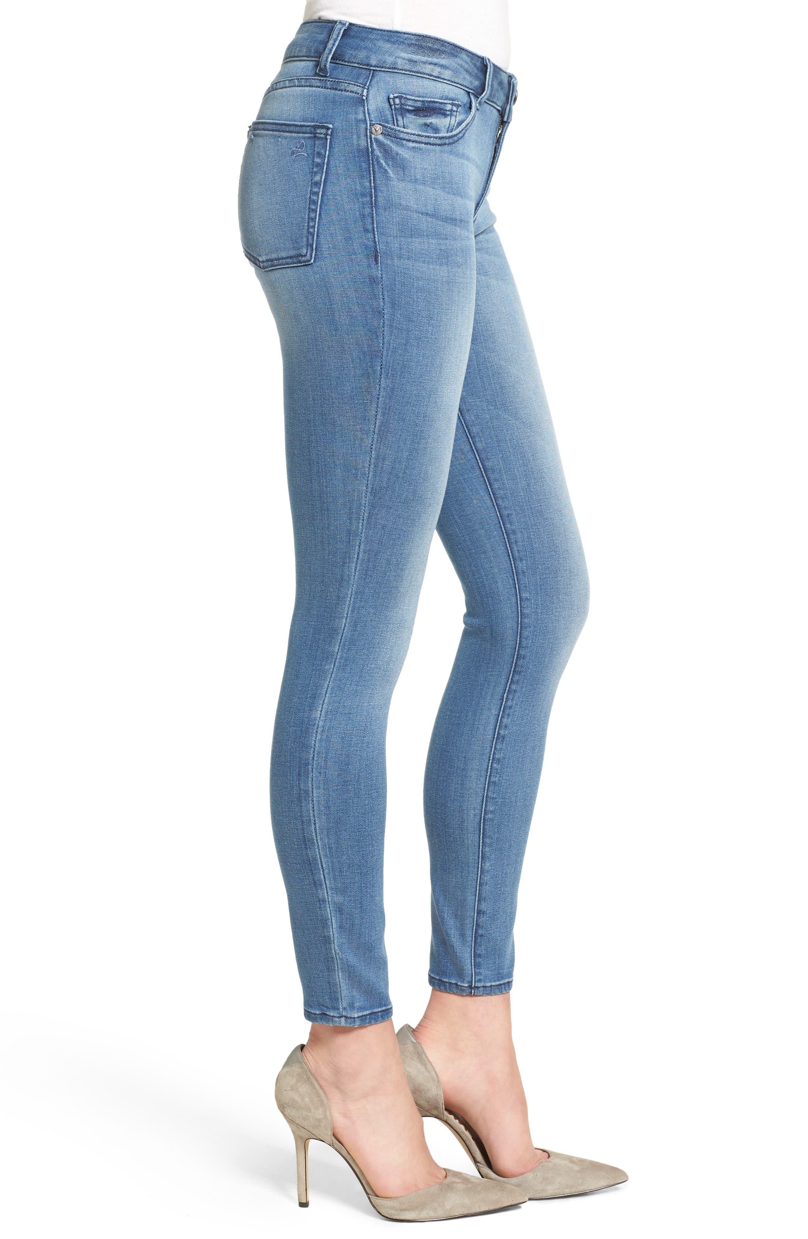 Florence Instasculpt Skinny Jeans,                             Alternate thumbnail 3, color,                             Godiva