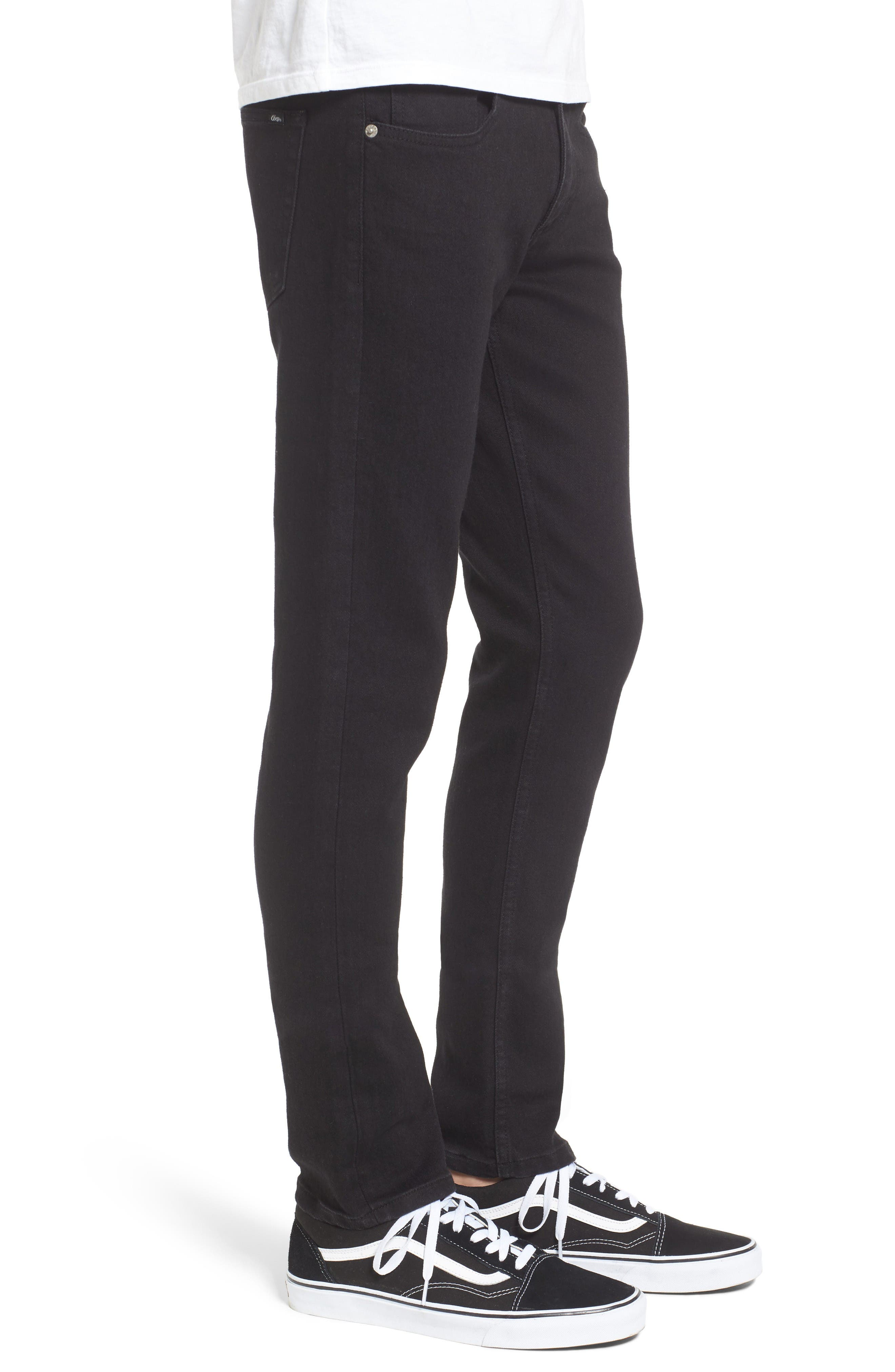 Juvee II Skinny Fit Jeans,                             Alternate thumbnail 3, color,                             Black