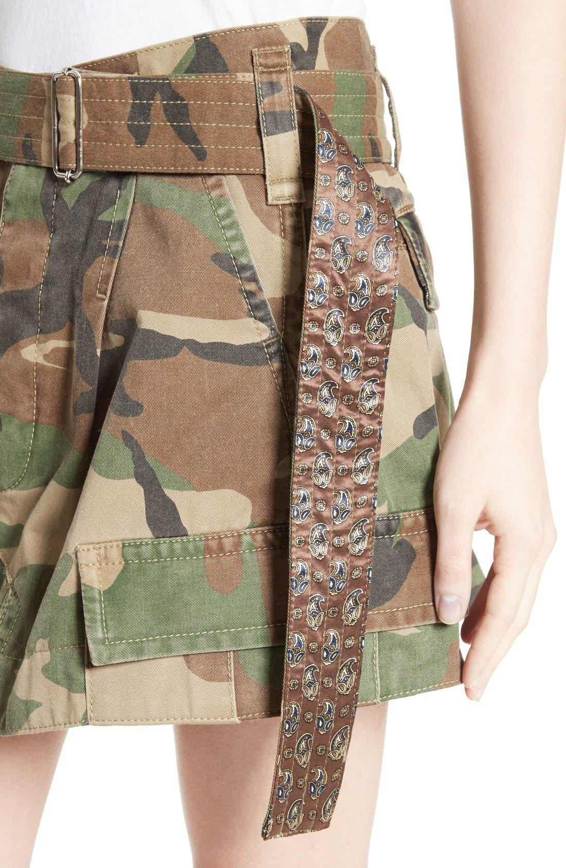 Alternate Image 6  - MARC JACOBS Camo Print Cargo Miniskirt