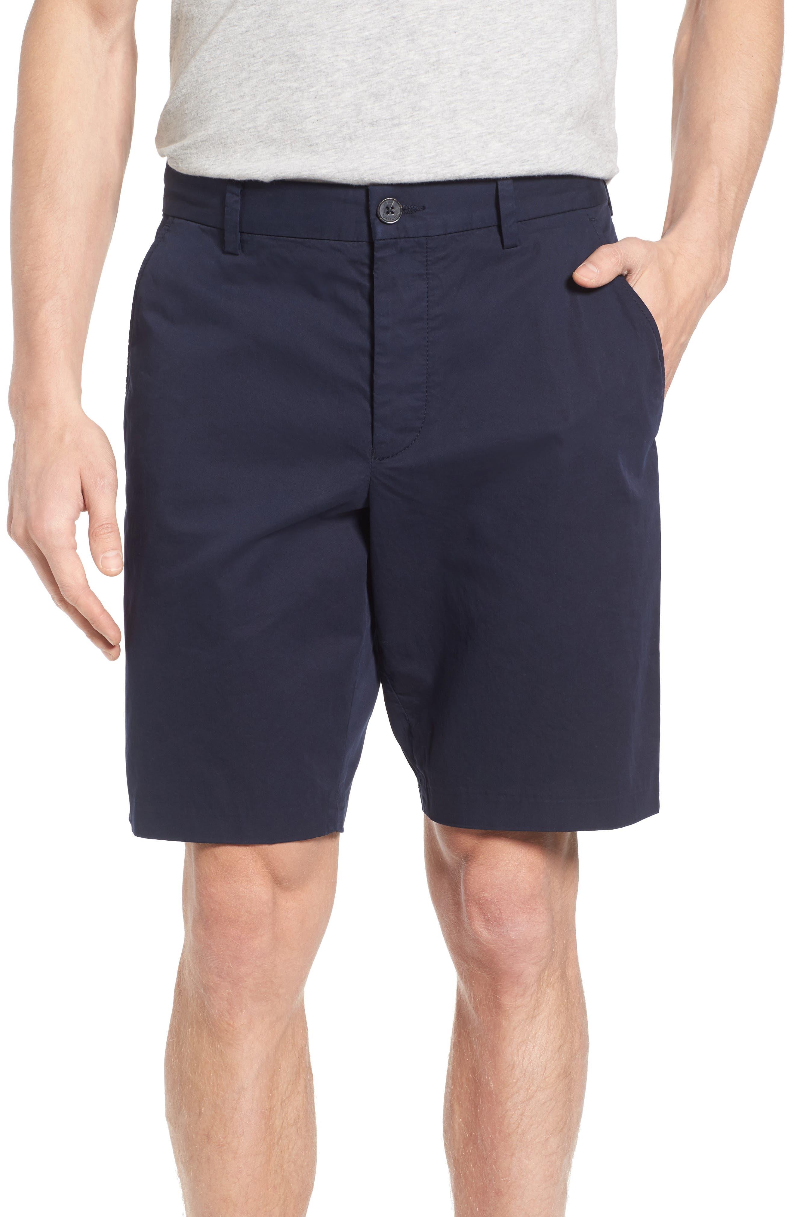 Peach Pie Flat Front Shorts,                         Main,                         color, Marine Blue