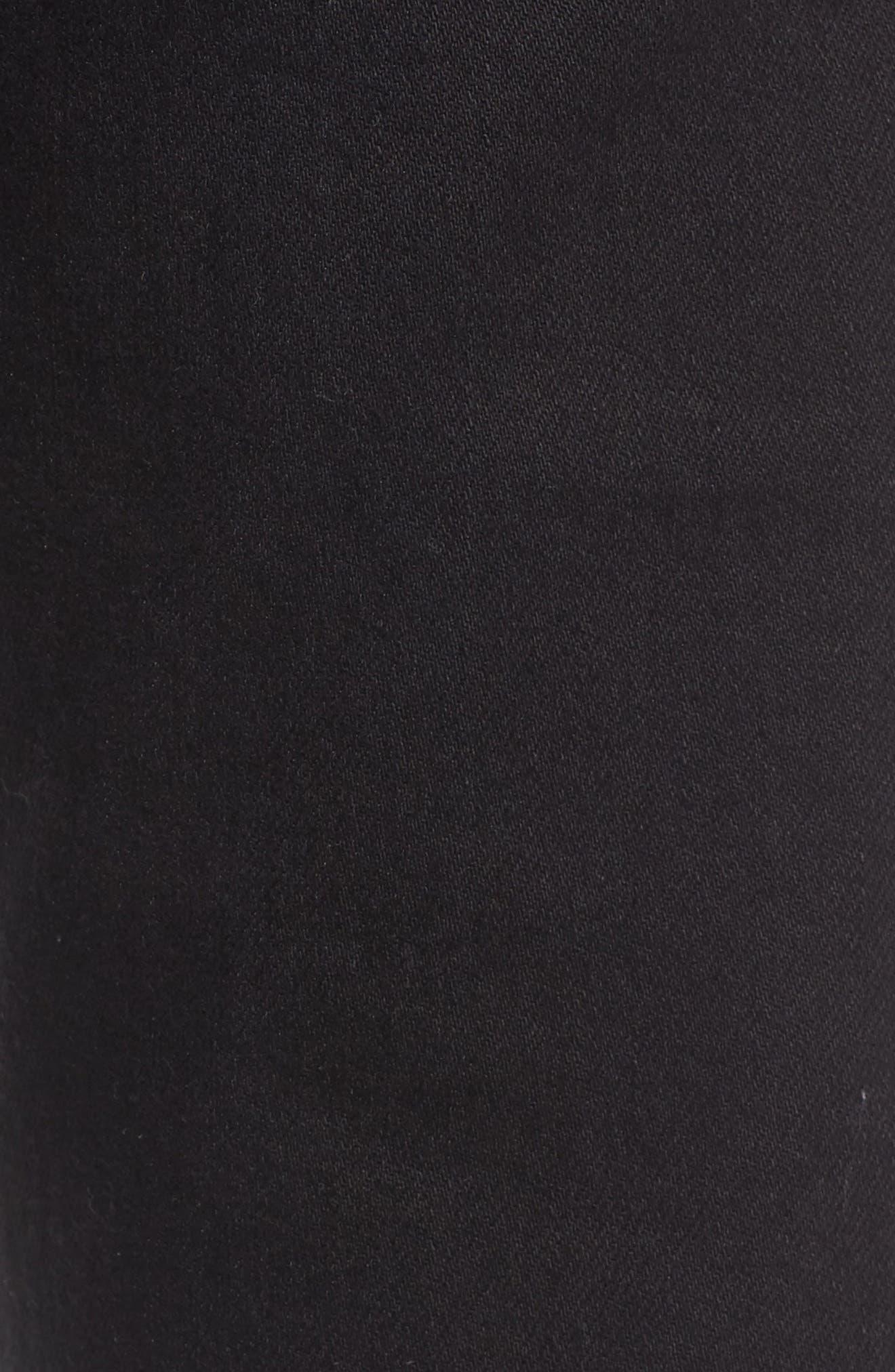 Juvee II Skinny Fit Jeans,                             Alternate thumbnail 5, color,                             Black