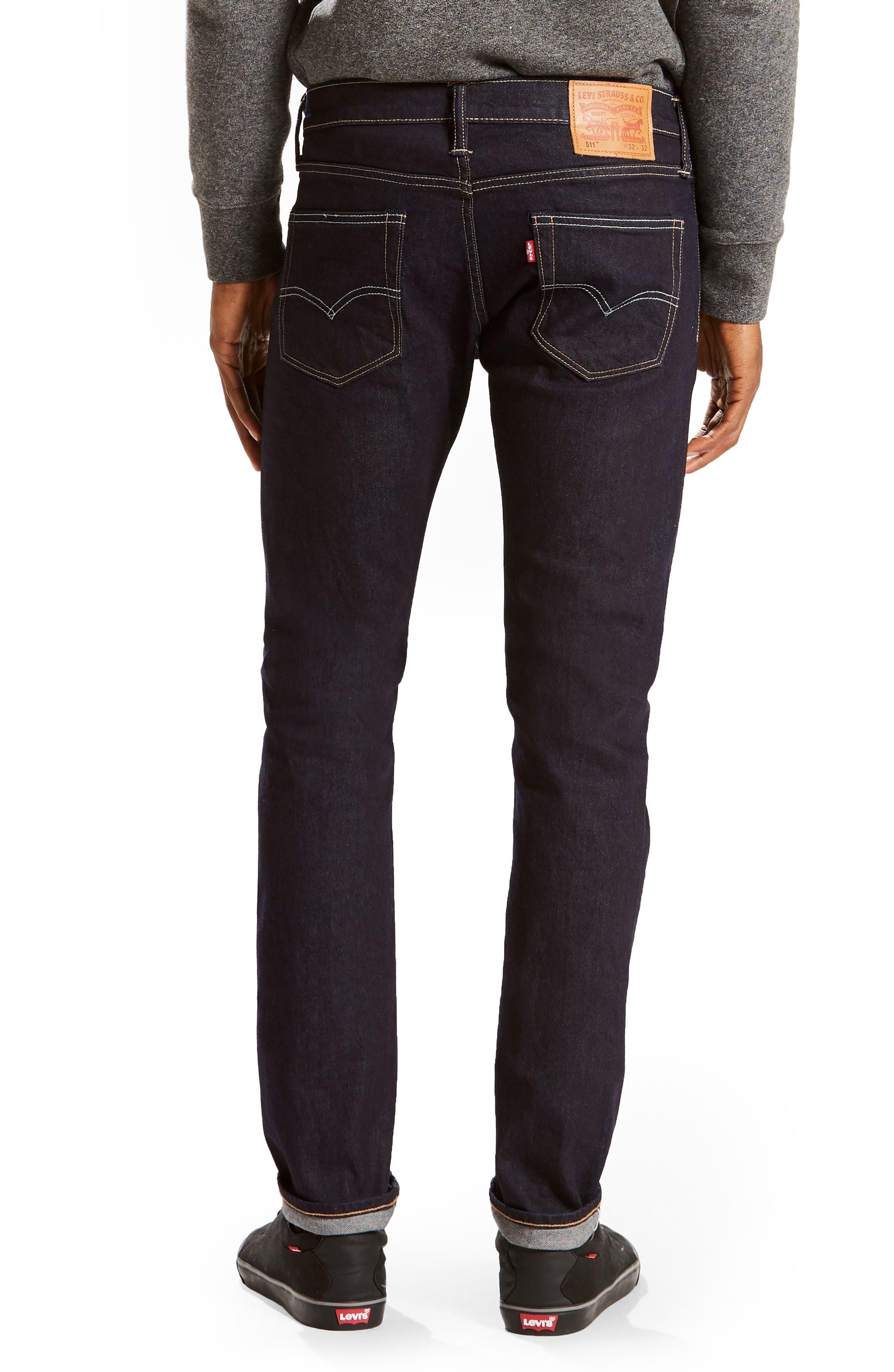 Alternate Image 2  - Levi's 511 Slim Fit Jeans (Selvedge Stirline)