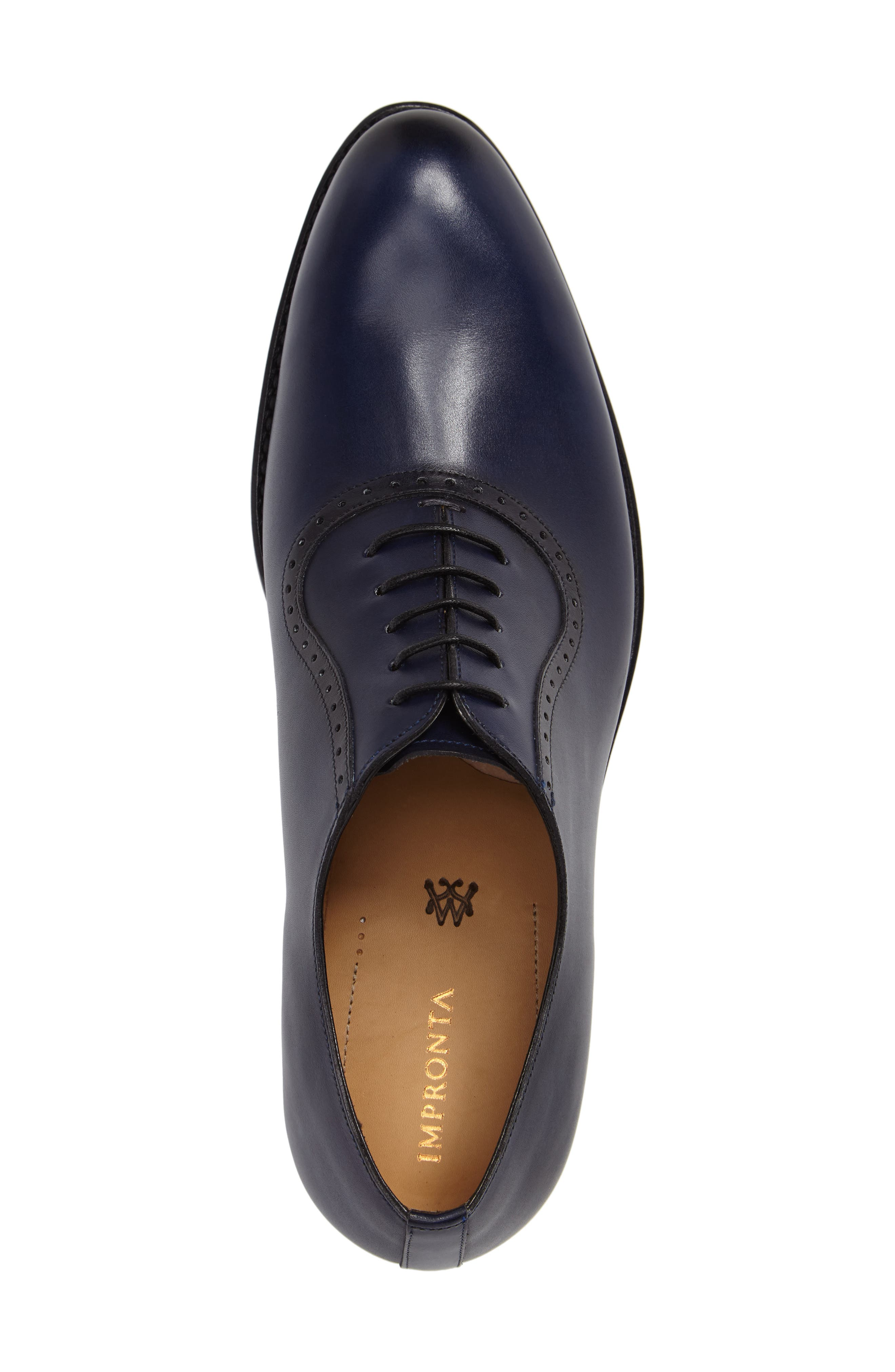 by Mezlan G105 Plain Toe Oxford,                             Alternate thumbnail 3, color,                             Blue