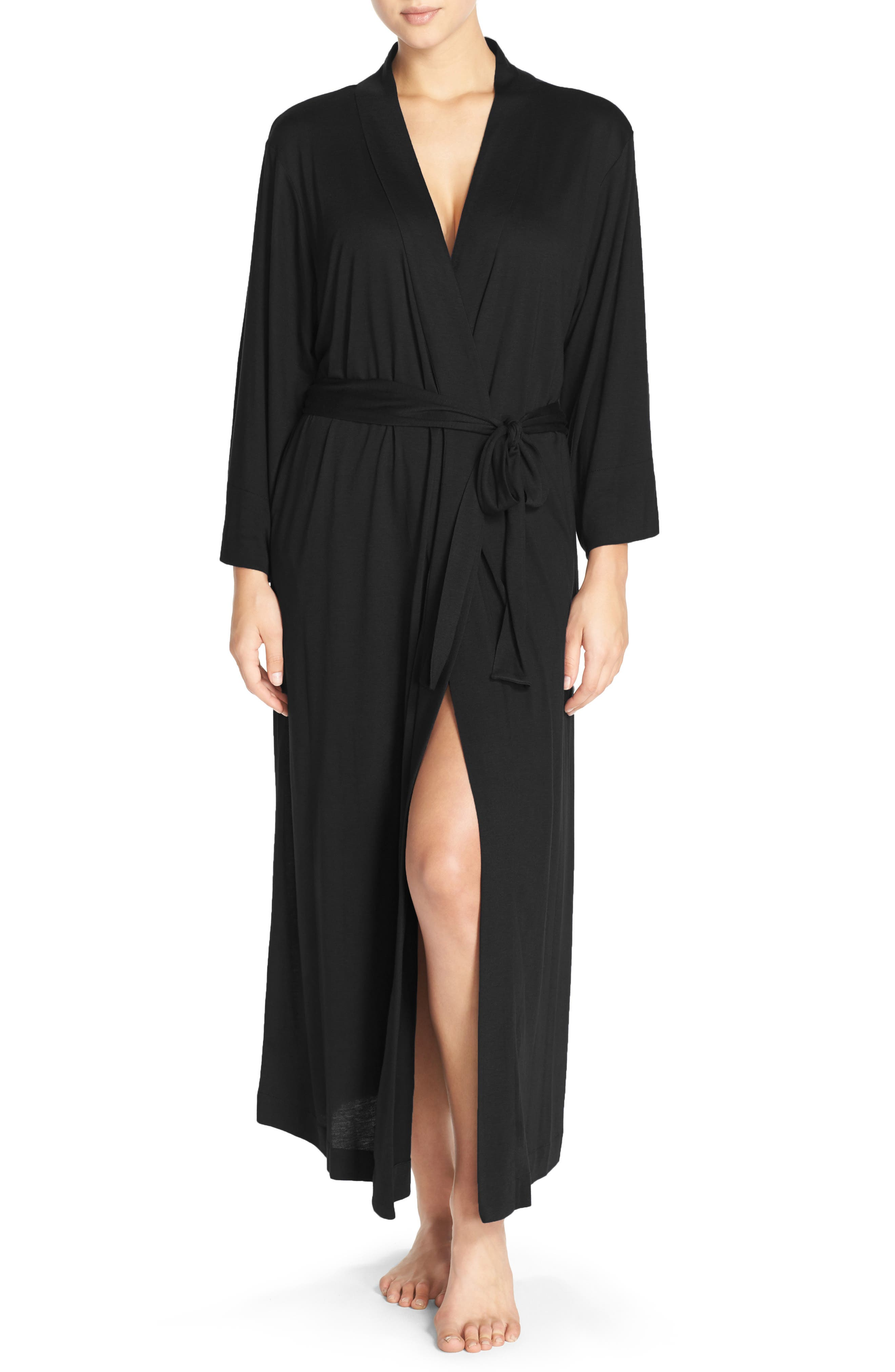 'Shangri-La' Robe,                         Main,                         color, Black
