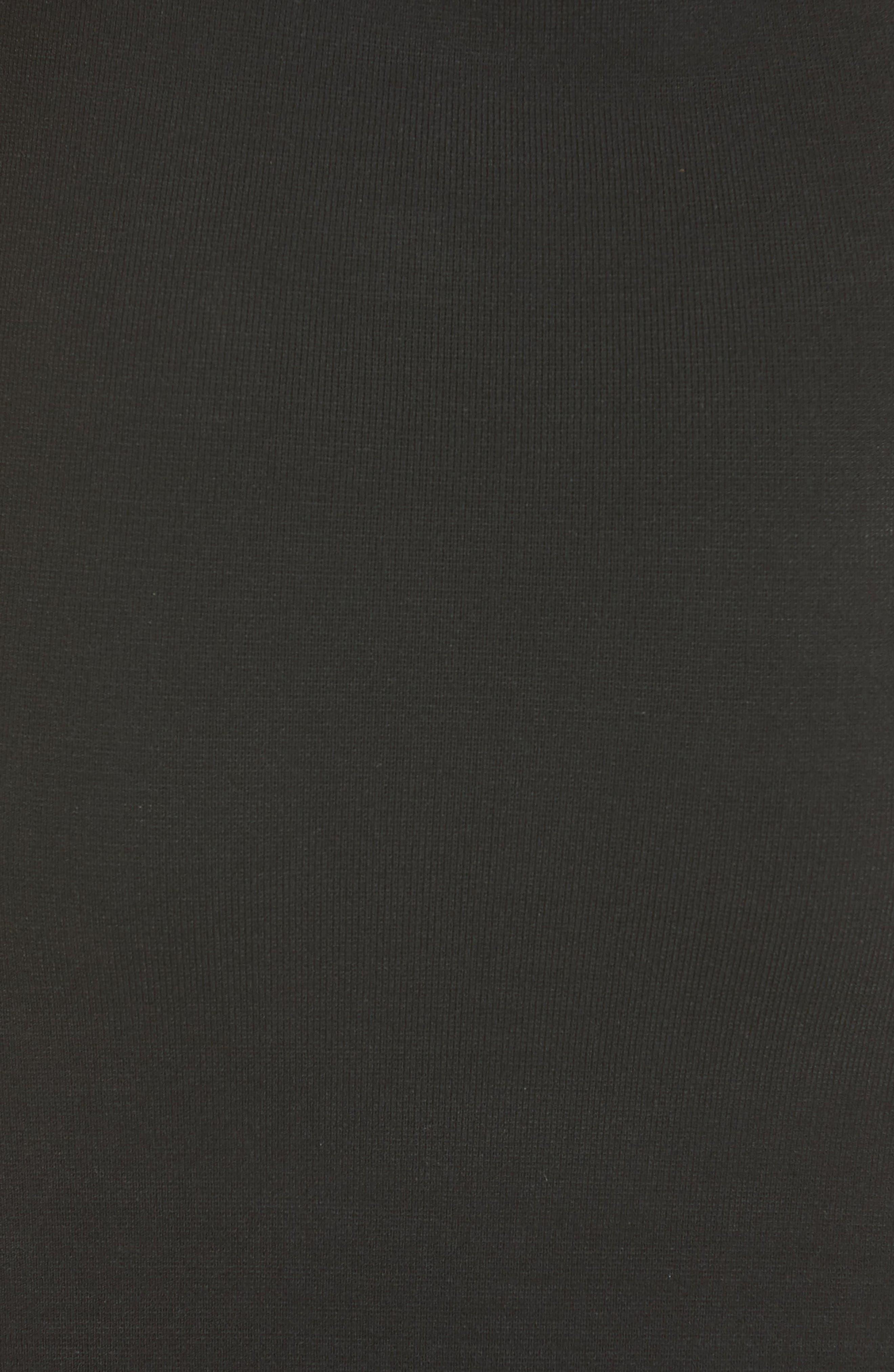 Flounce Hem Dress,                             Alternate thumbnail 5, color,                             Black