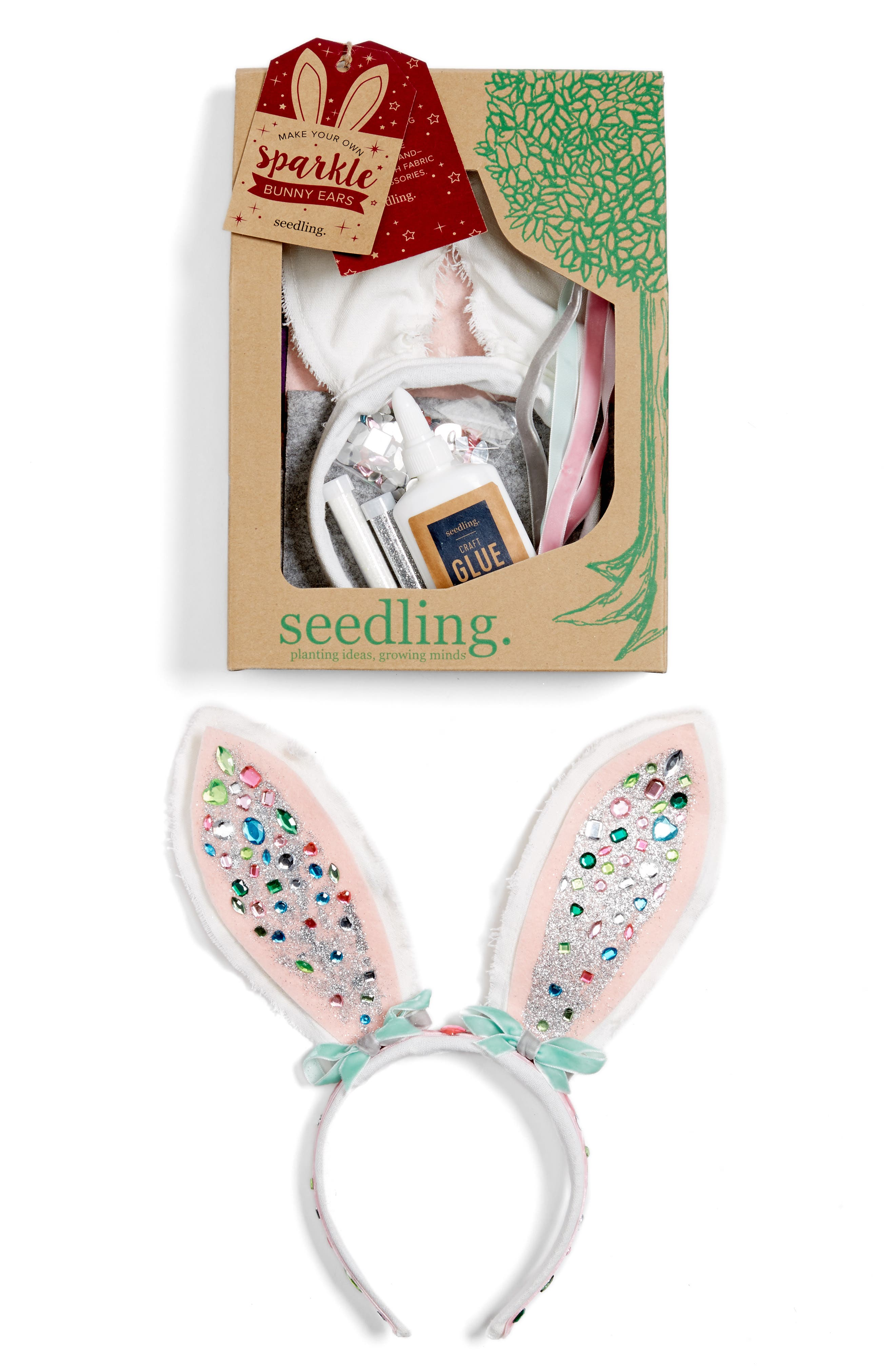 seedling Make Your Own Sparkle Bunny Ears Craft Kit