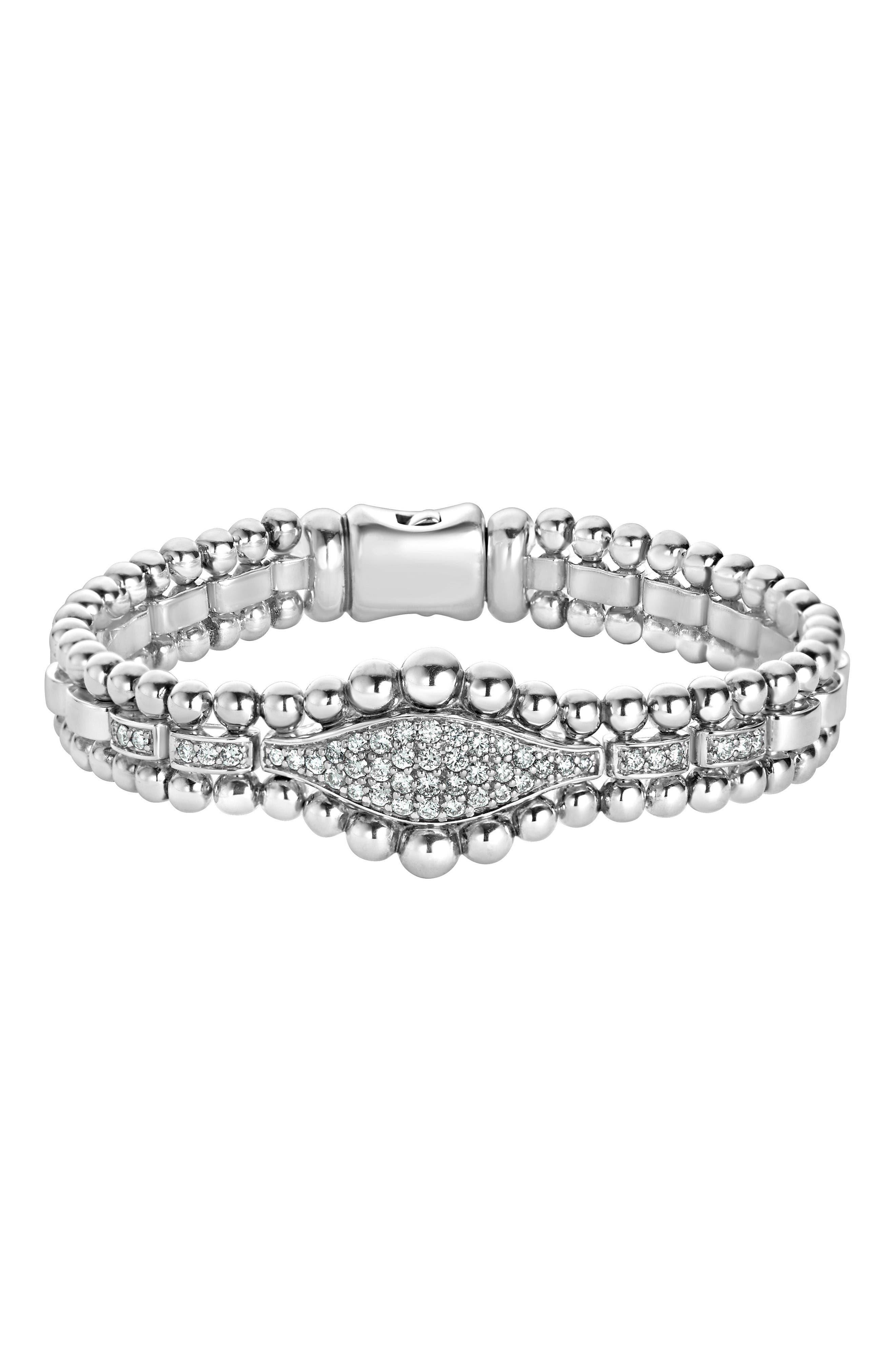 Alternate Image 1 Selected - LAGOS Caviar Spark Diamond Marquise Link Bracelet
