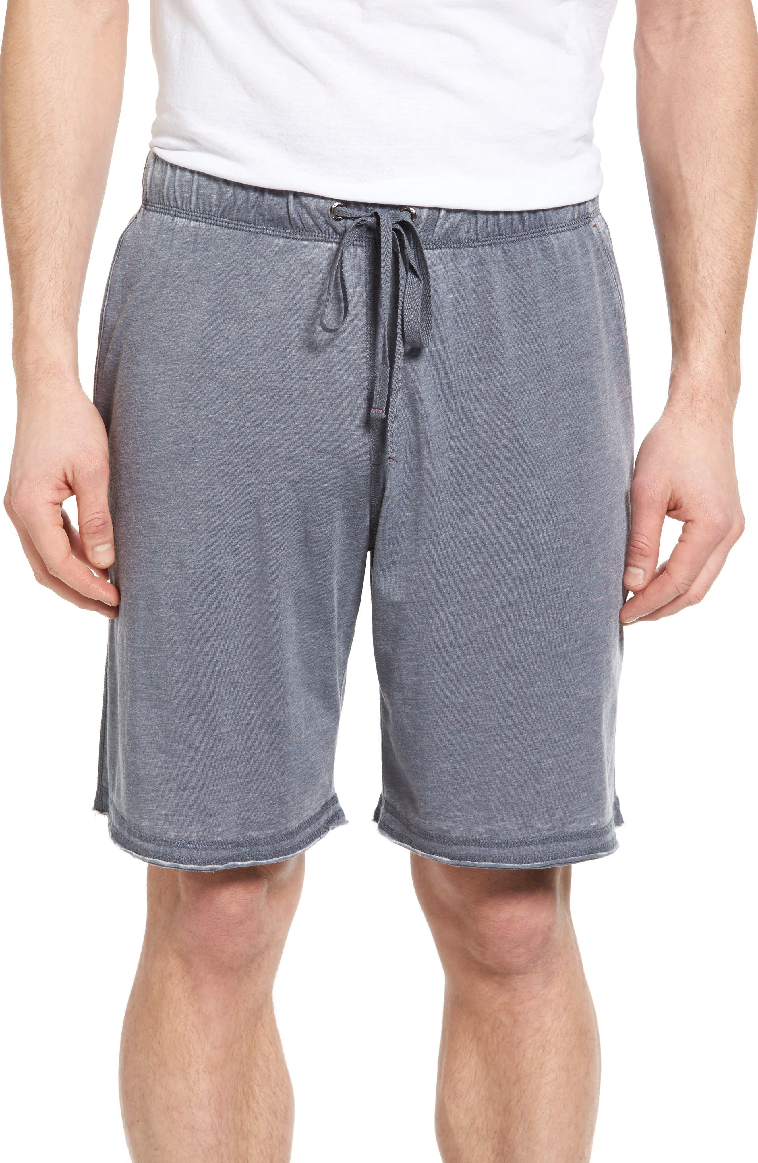 Burnout Lounge Shorts,                         Main,                         color, Charcoal