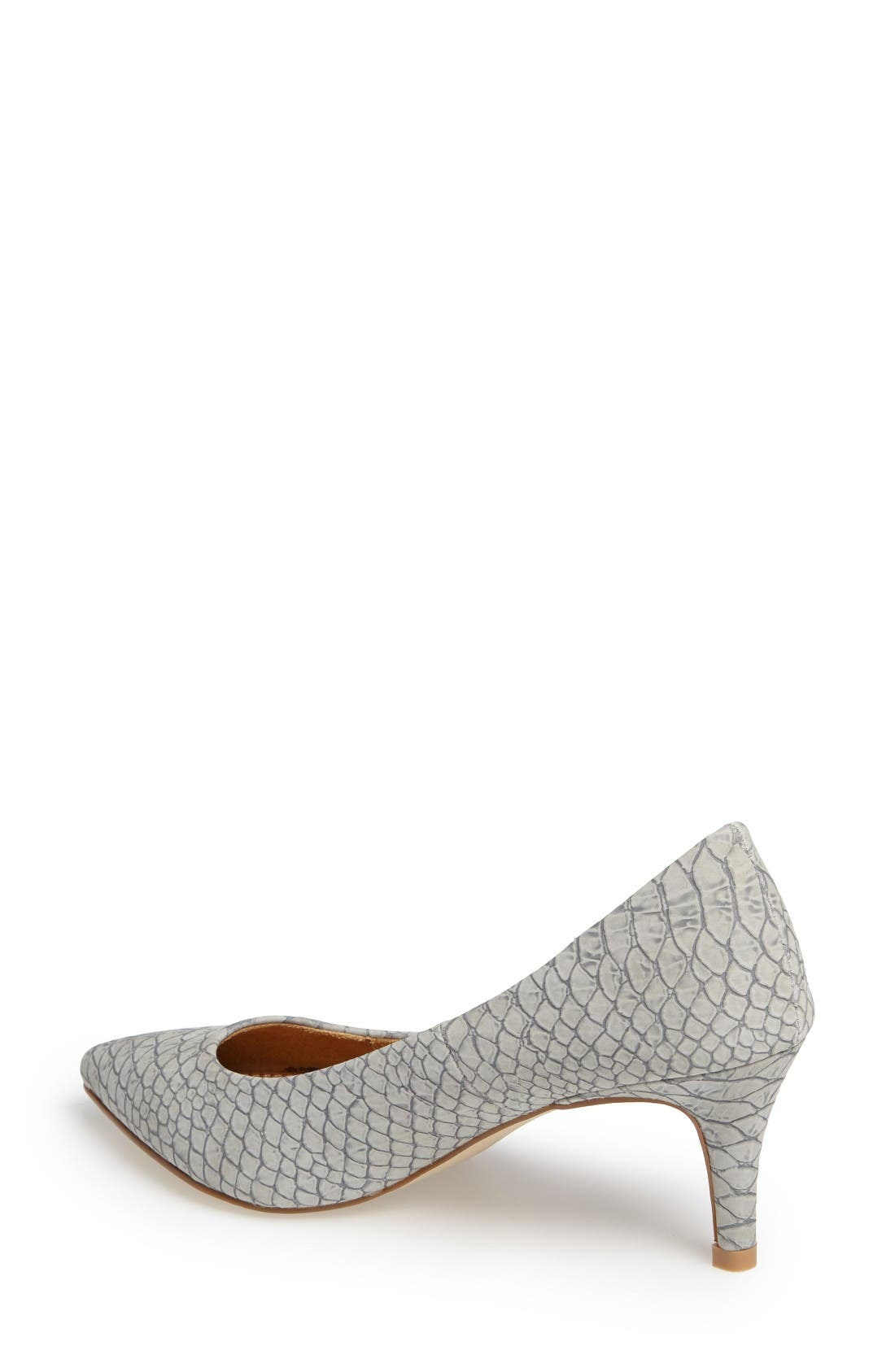 Tikka Pointy Toe Pump,                             Alternate thumbnail 2, color,                             Grey Faux Leather