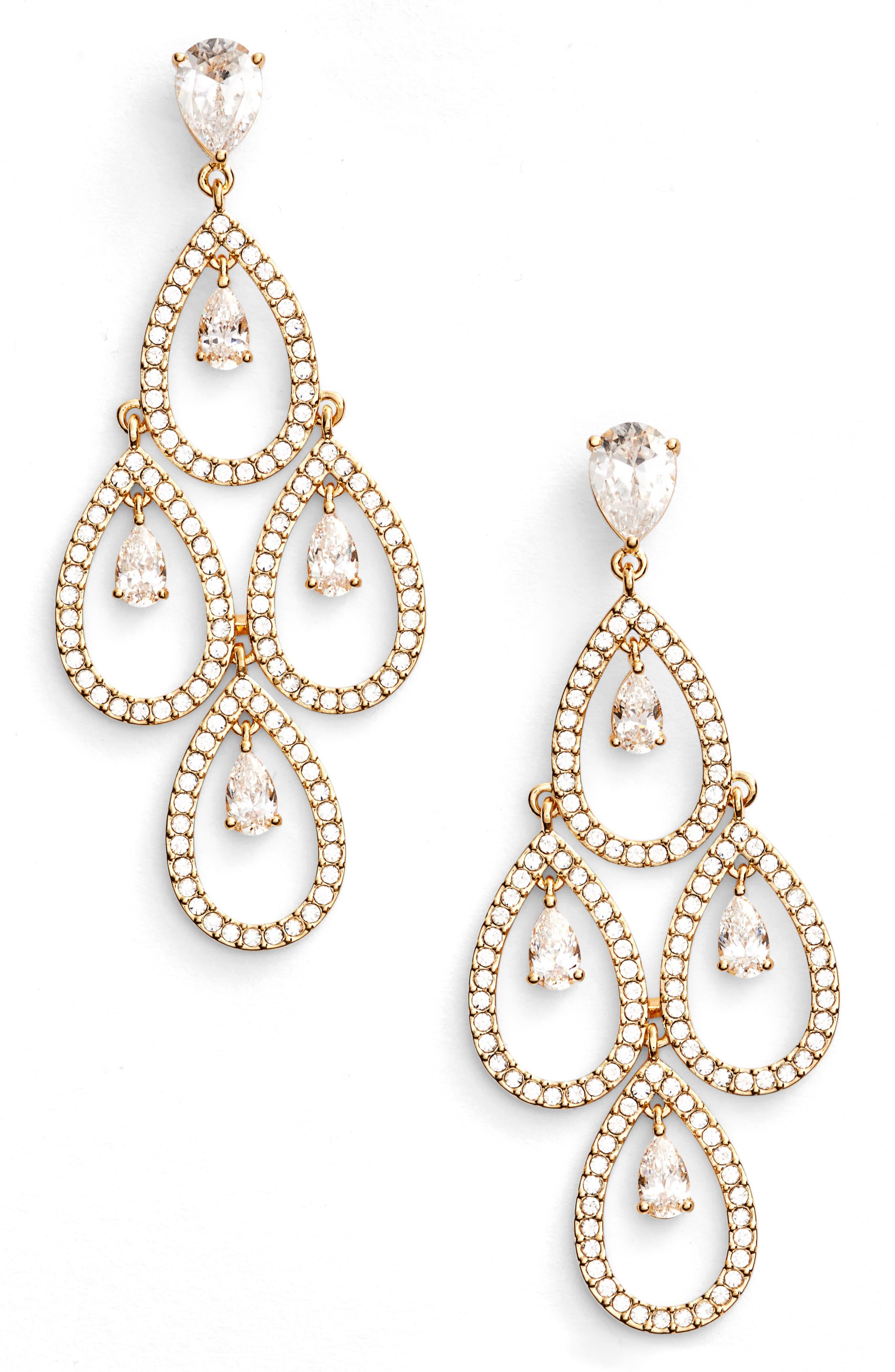 Nadri Crystal Chandelier Earrings