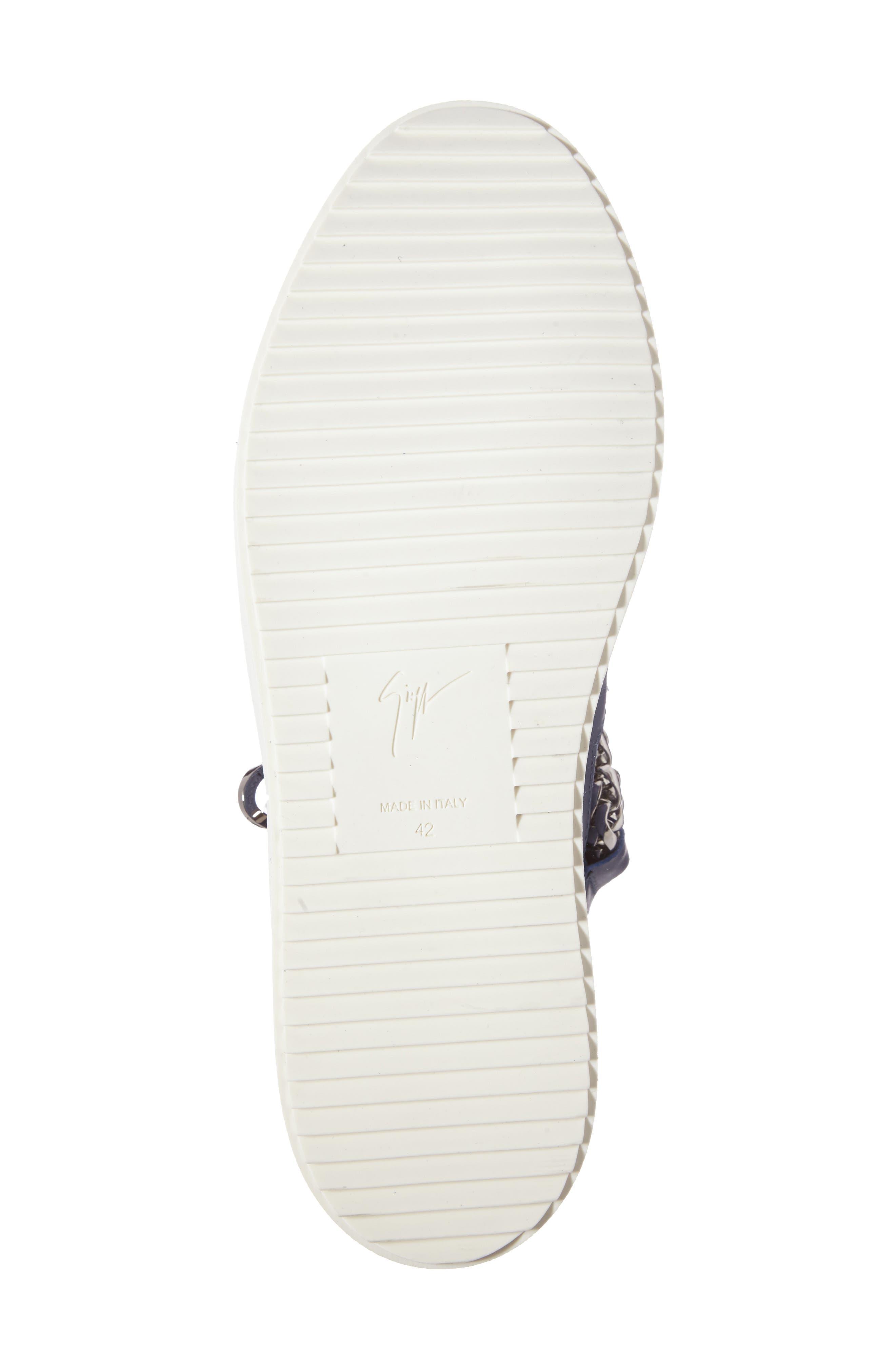 Alternate Image 4  - Giuseppe Zanotti Chain Mid Top Sneaker (Men)