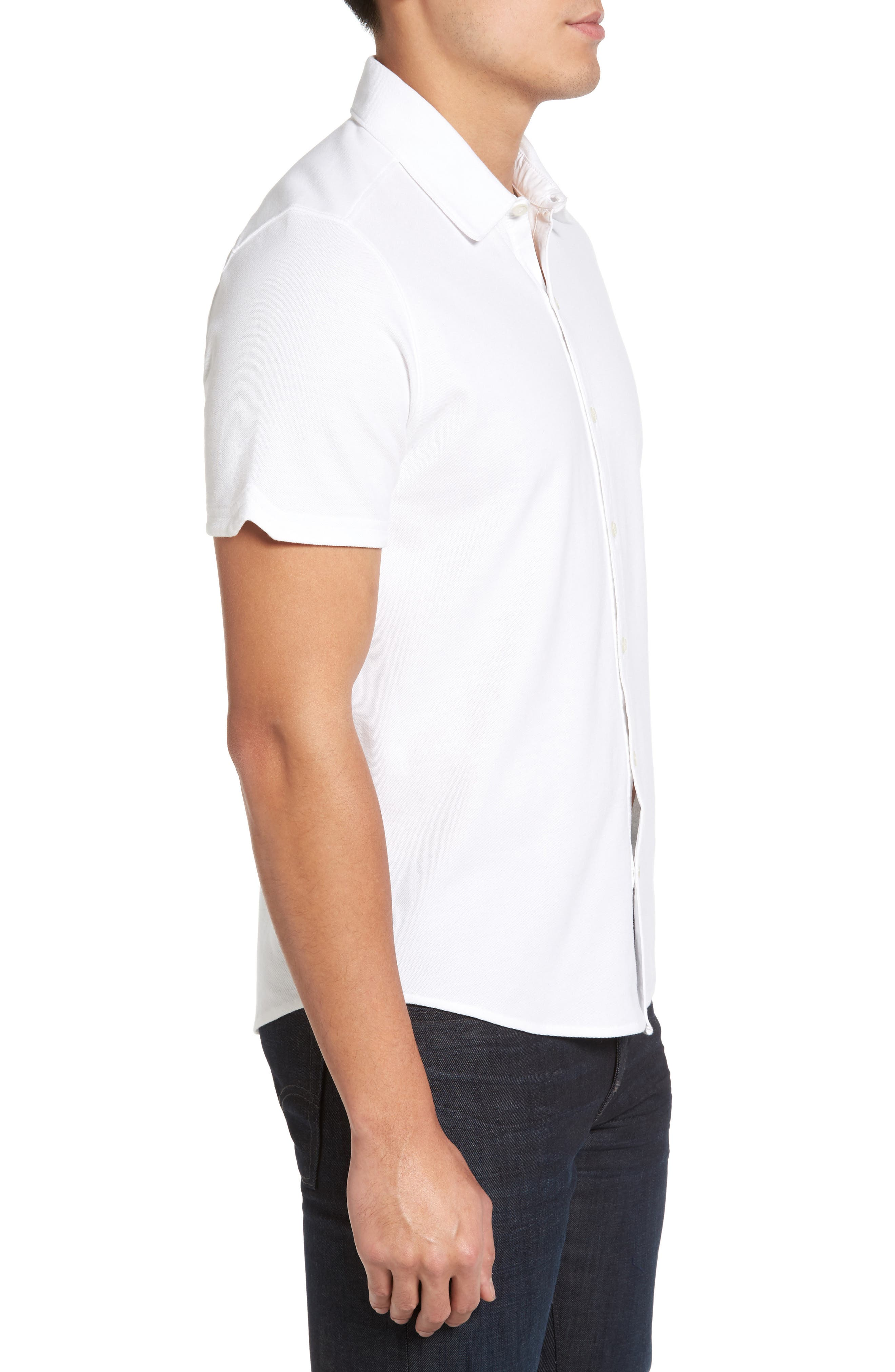Palmetto Pima Cotton Shirt,                             Alternate thumbnail 3, color,                             White