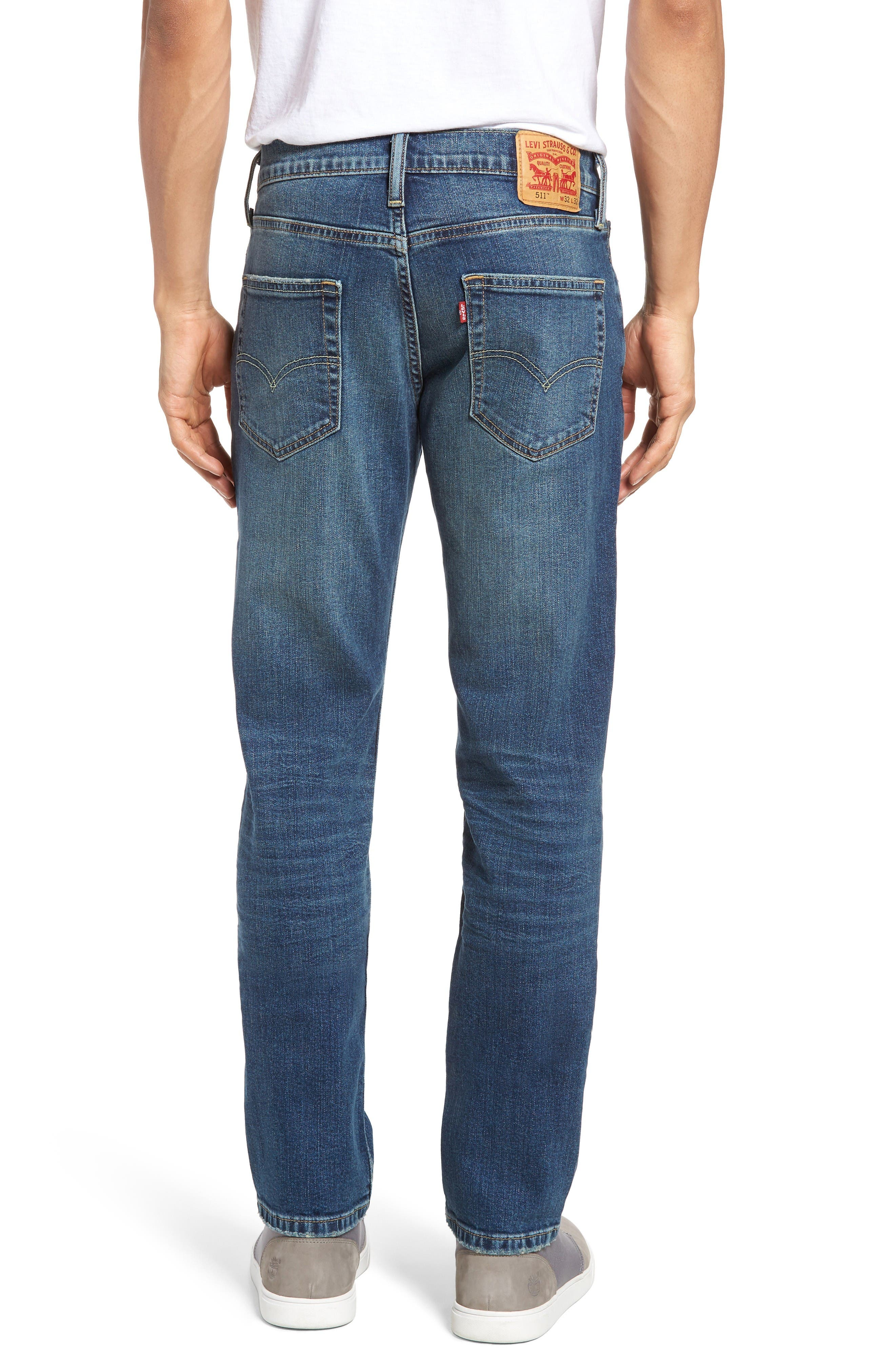 Alternate Image 2  - Levi's® 511™ Slim Fit Jeans (Emgee)