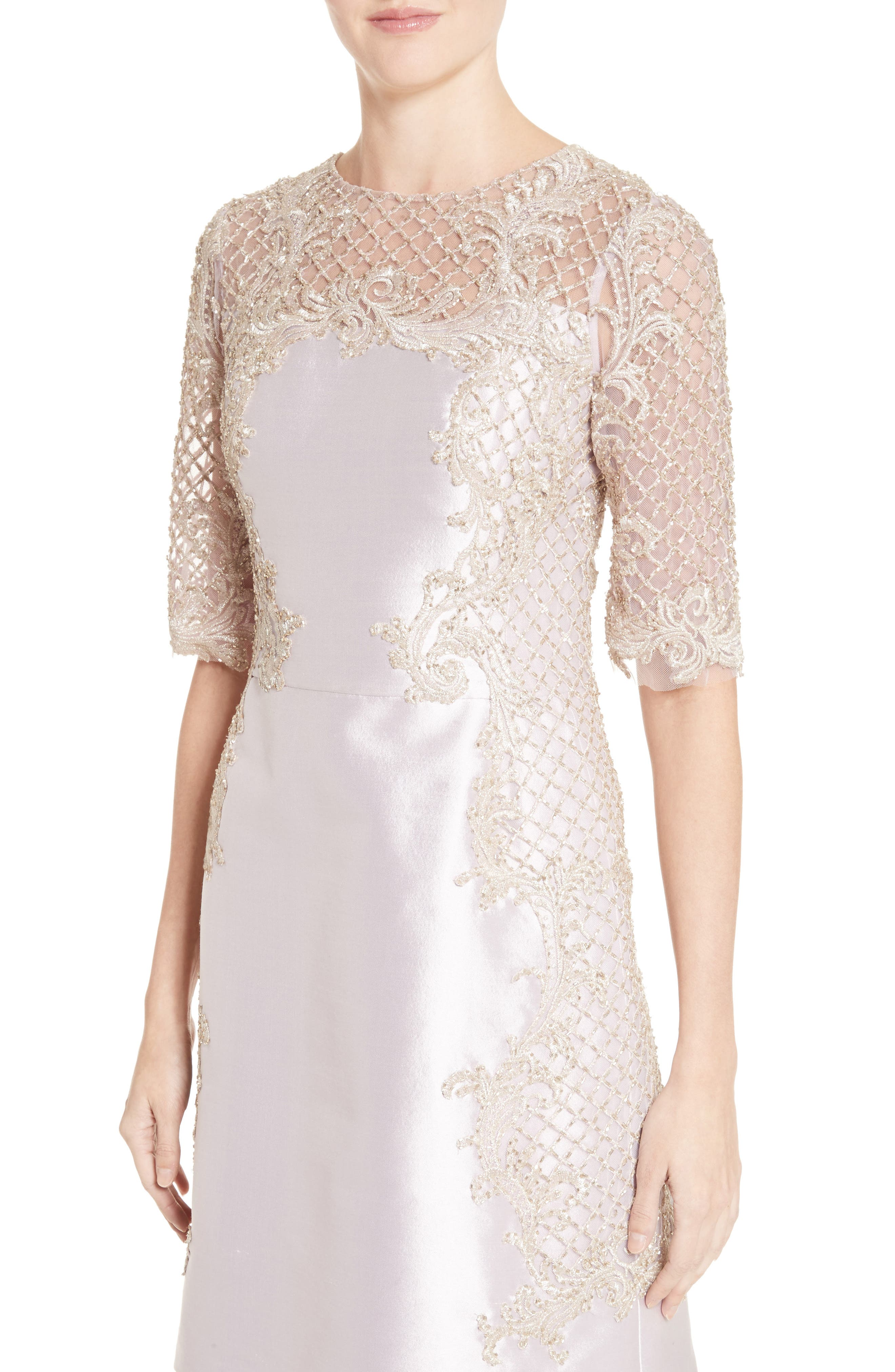 Alternate Image 5  - Marchesa Embellished Tulle & Wool Dress