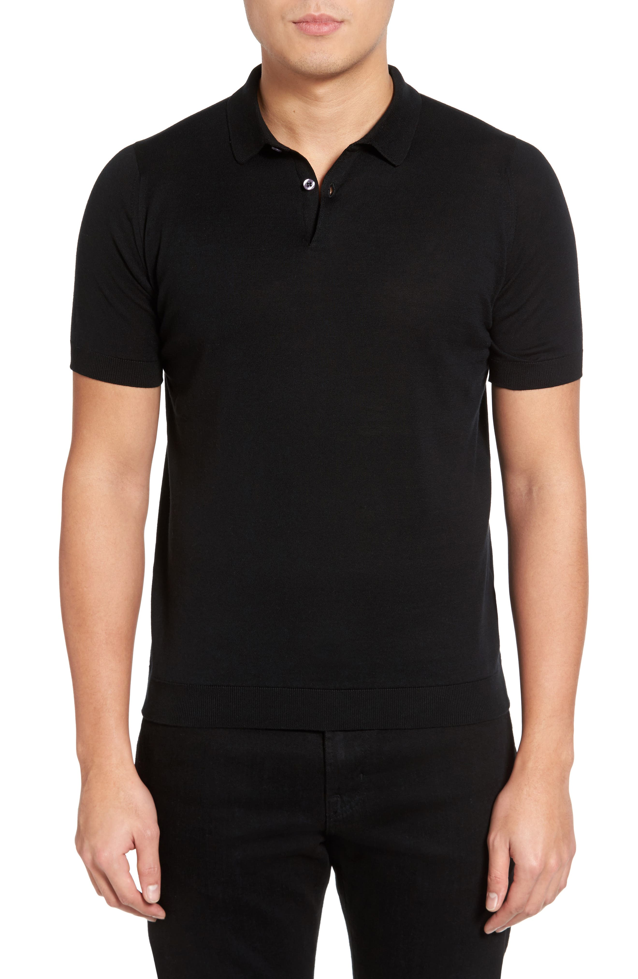 Main Image - John Smedley Seal Island Cotton Polo