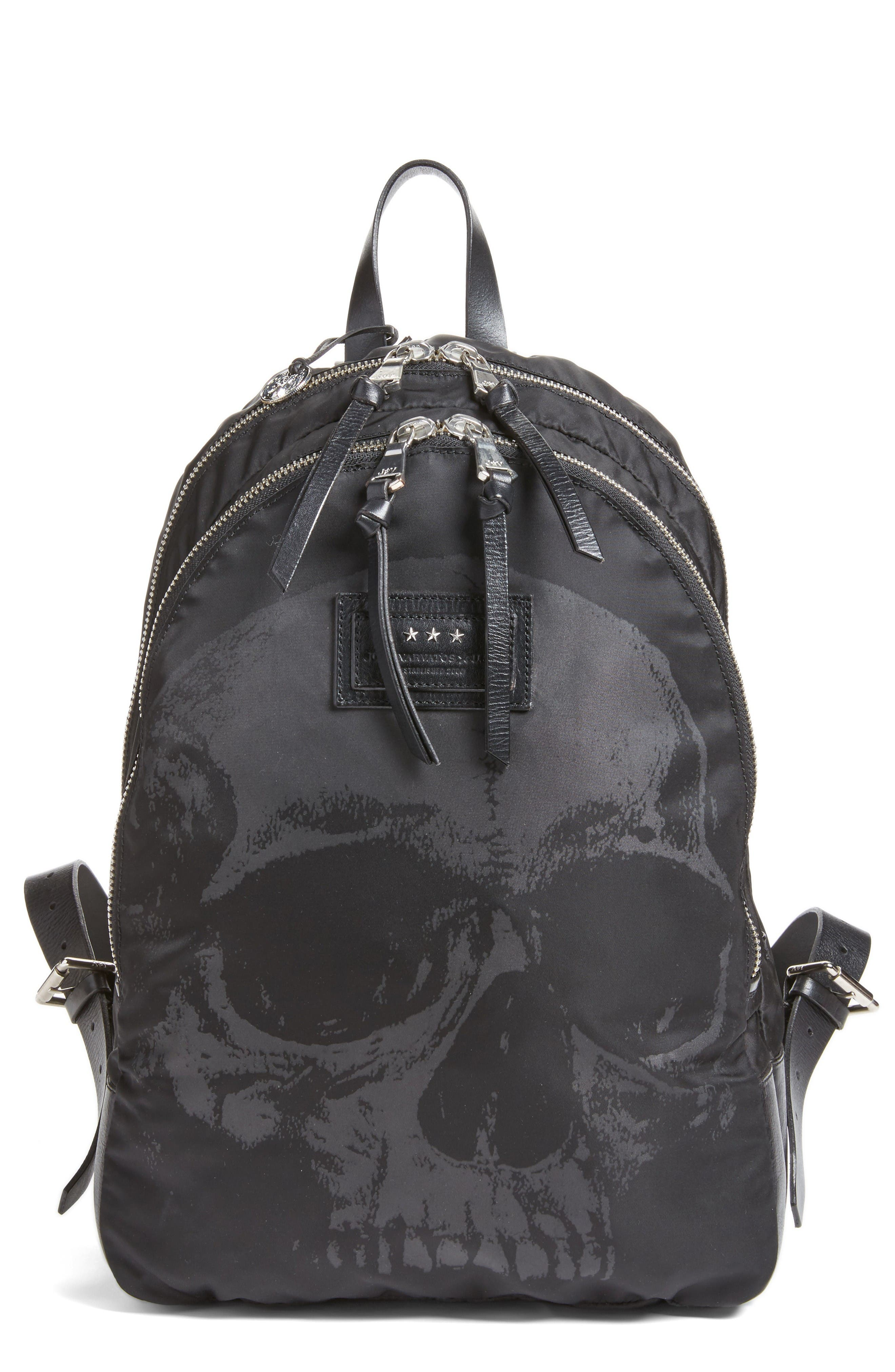 JOHN VARVATOS STAR USA Skull Print Backpack