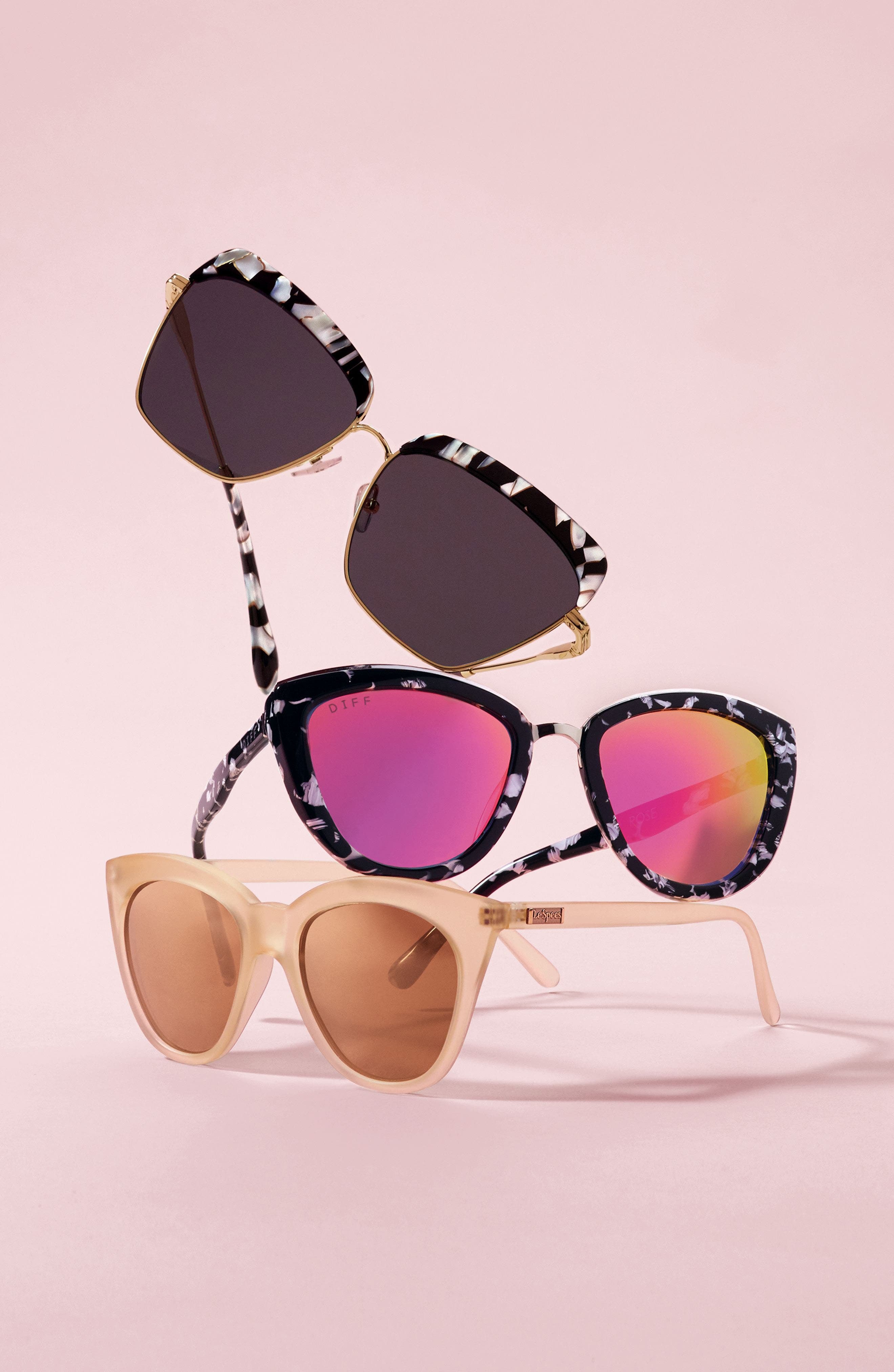 Alternate Image 3  - Le Specs Halfmoon Magic 51mm Cat Eye Sunglasses
