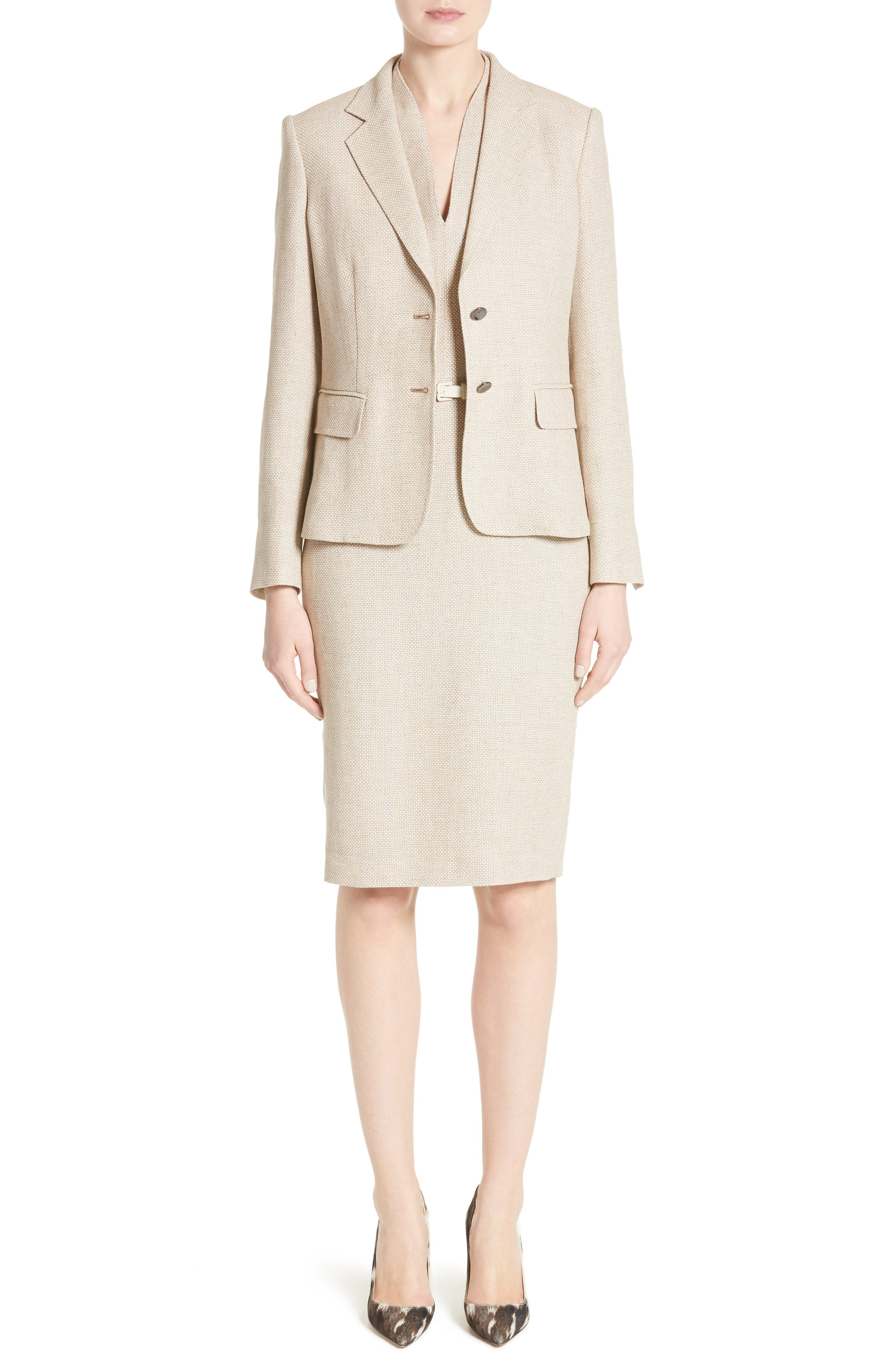 Alternate Image 7  - Max Mara Azeglio Belted Linen Sheath Dress