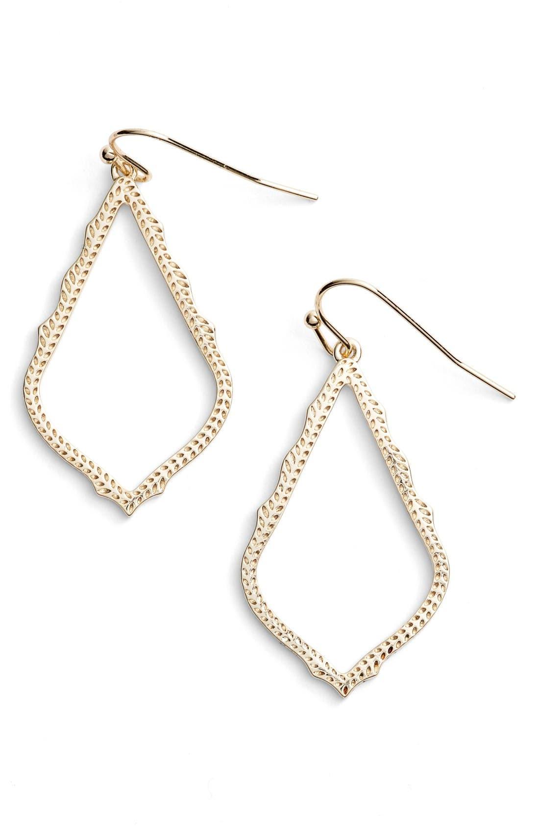 Sophia Drop Earrings,                             Main thumbnail 1, color,                             Gold