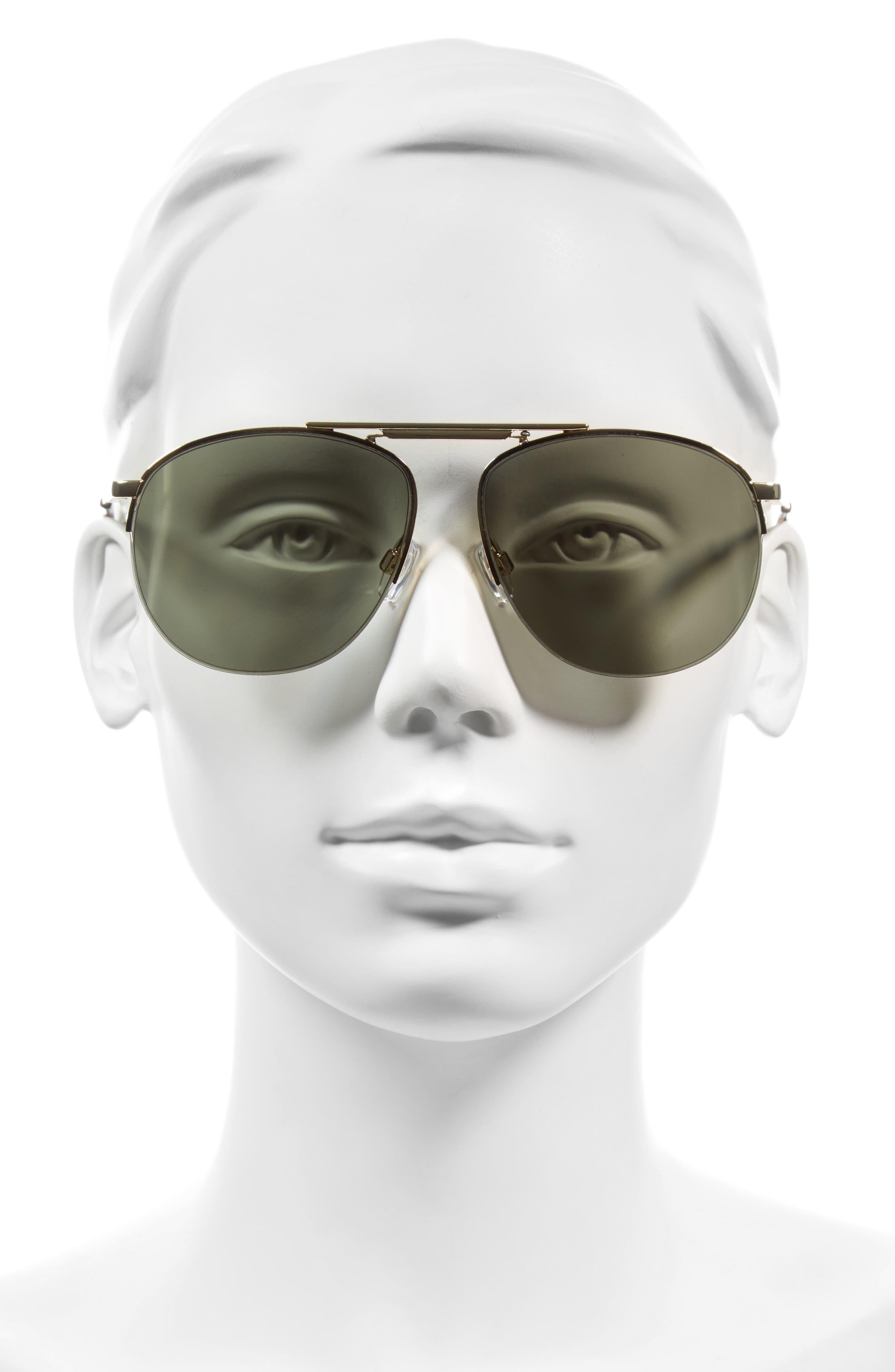 Alternate Image 2  - Le Specs Liberation 57mm Aviator Sunglasses
