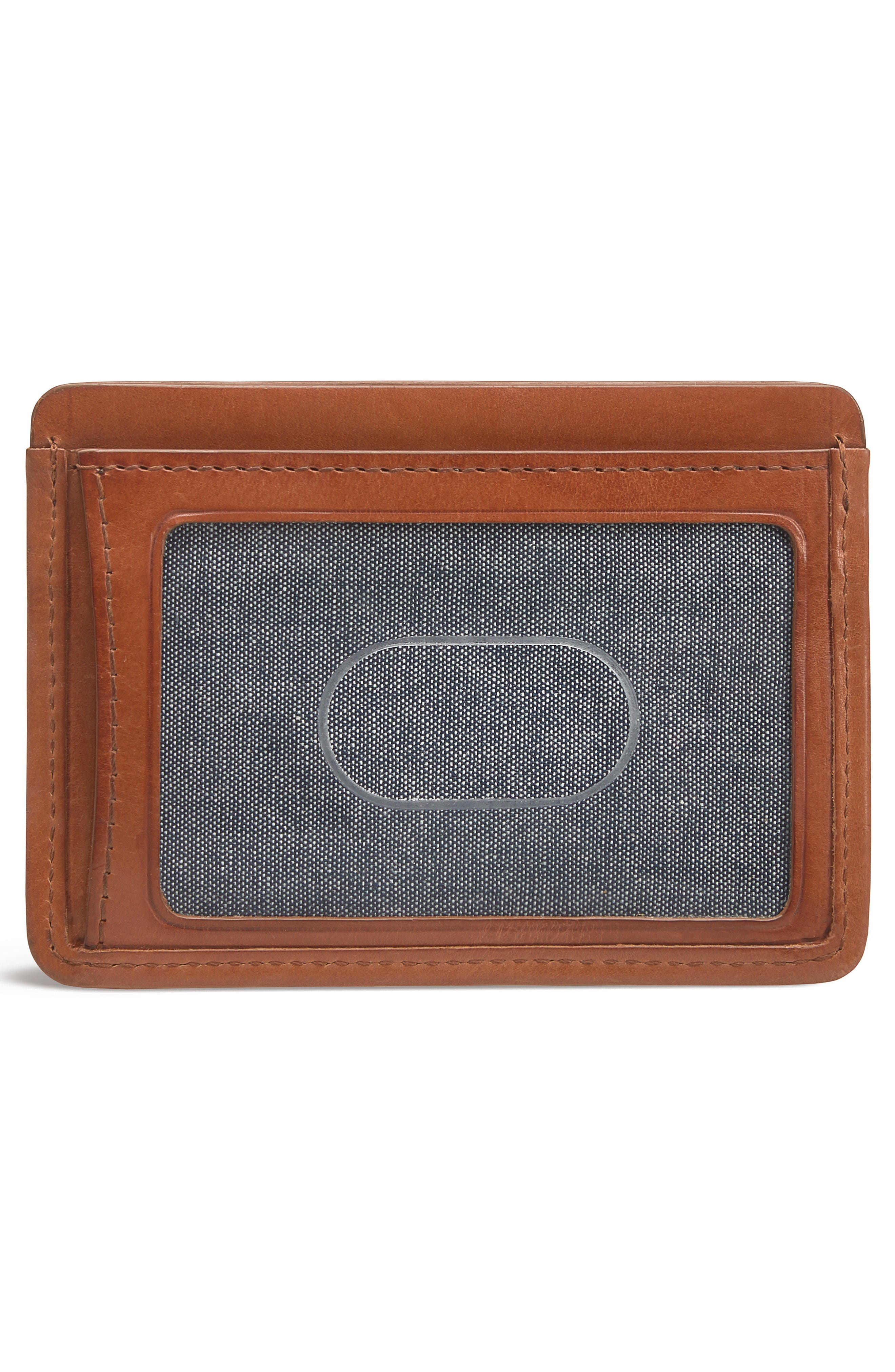 Alternate Image 2  - Trask Woven Leather Card Case