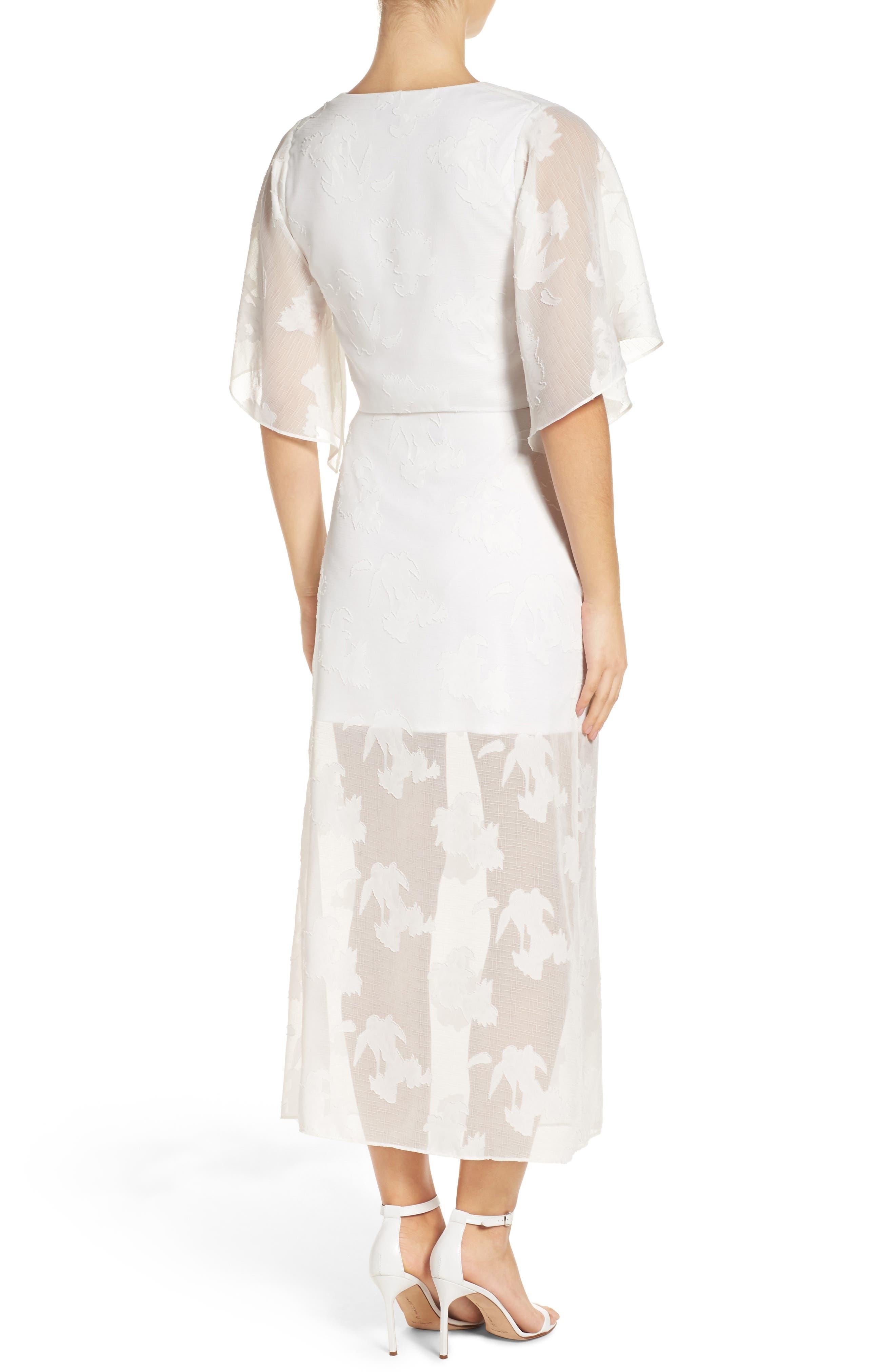 Two-Piece Dress,                             Alternate thumbnail 3, color,                             White Floral