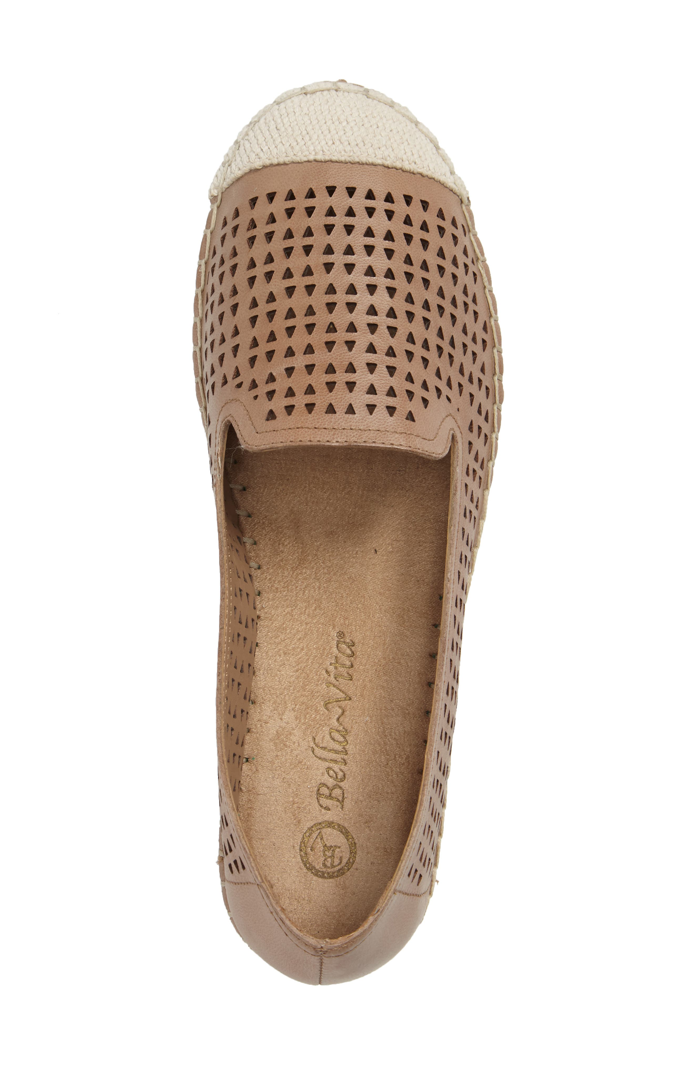 Channing Cutout Espadrille Loafer,                             Alternate thumbnail 3, color,                             Saddle Leather