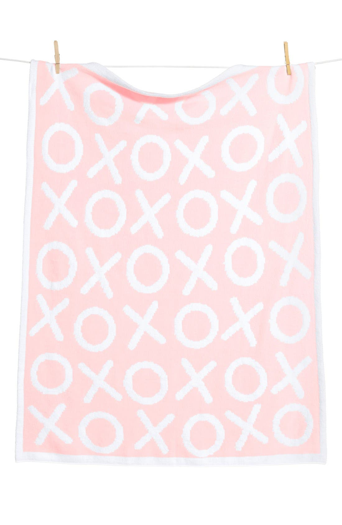 Chenille Blanket,                             Main thumbnail 1, color,                             Pink Baby Xo