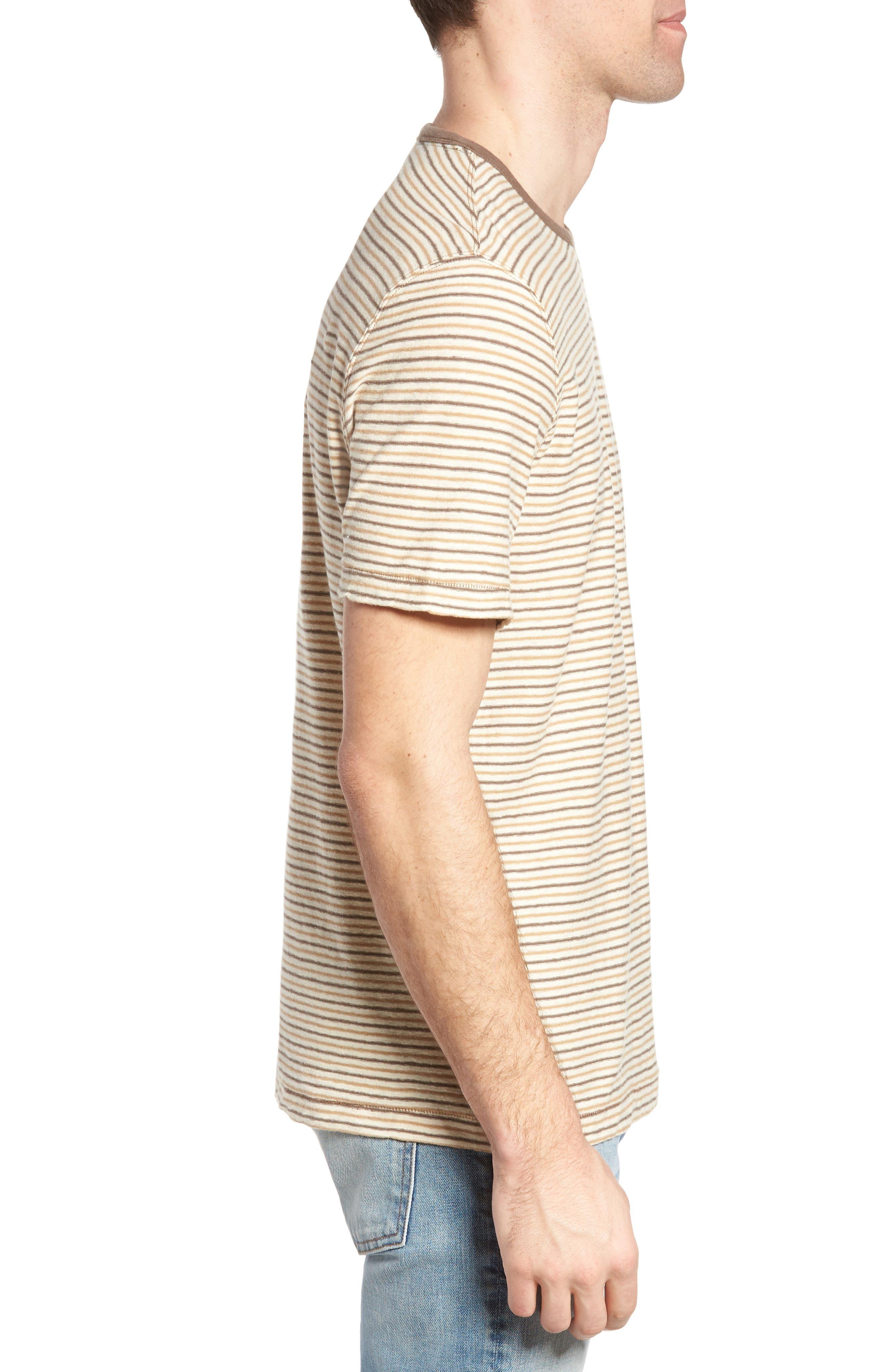 Bengal Reverse Stripe T-Shirt,                             Alternate thumbnail 3, color,                             Angora
