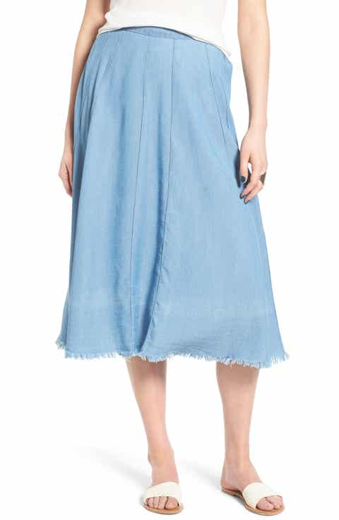 ST. studio Denim Midi Skirt