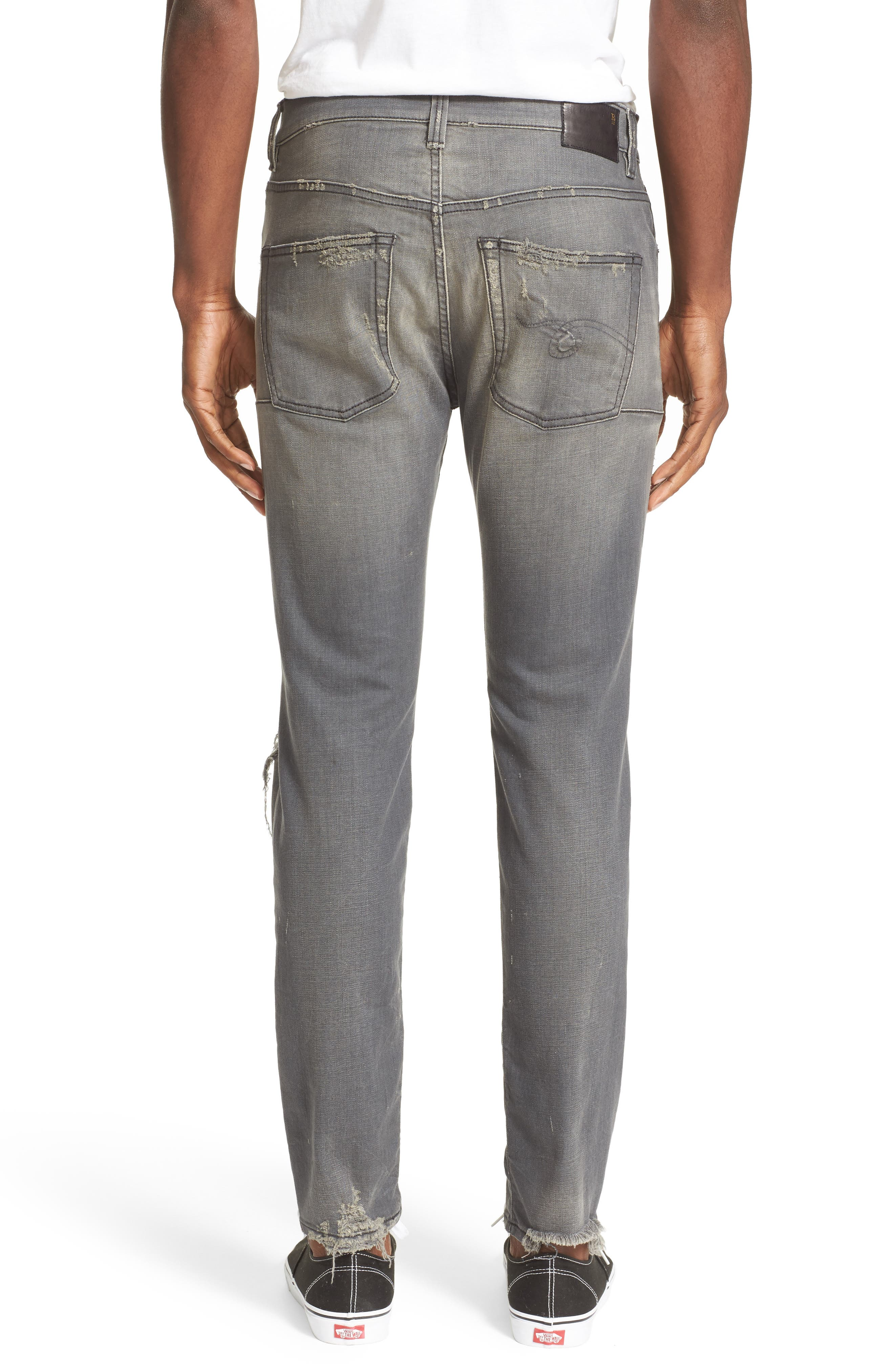 Alternate Image 2  - R13 Skate Shredded Skinny Jeans