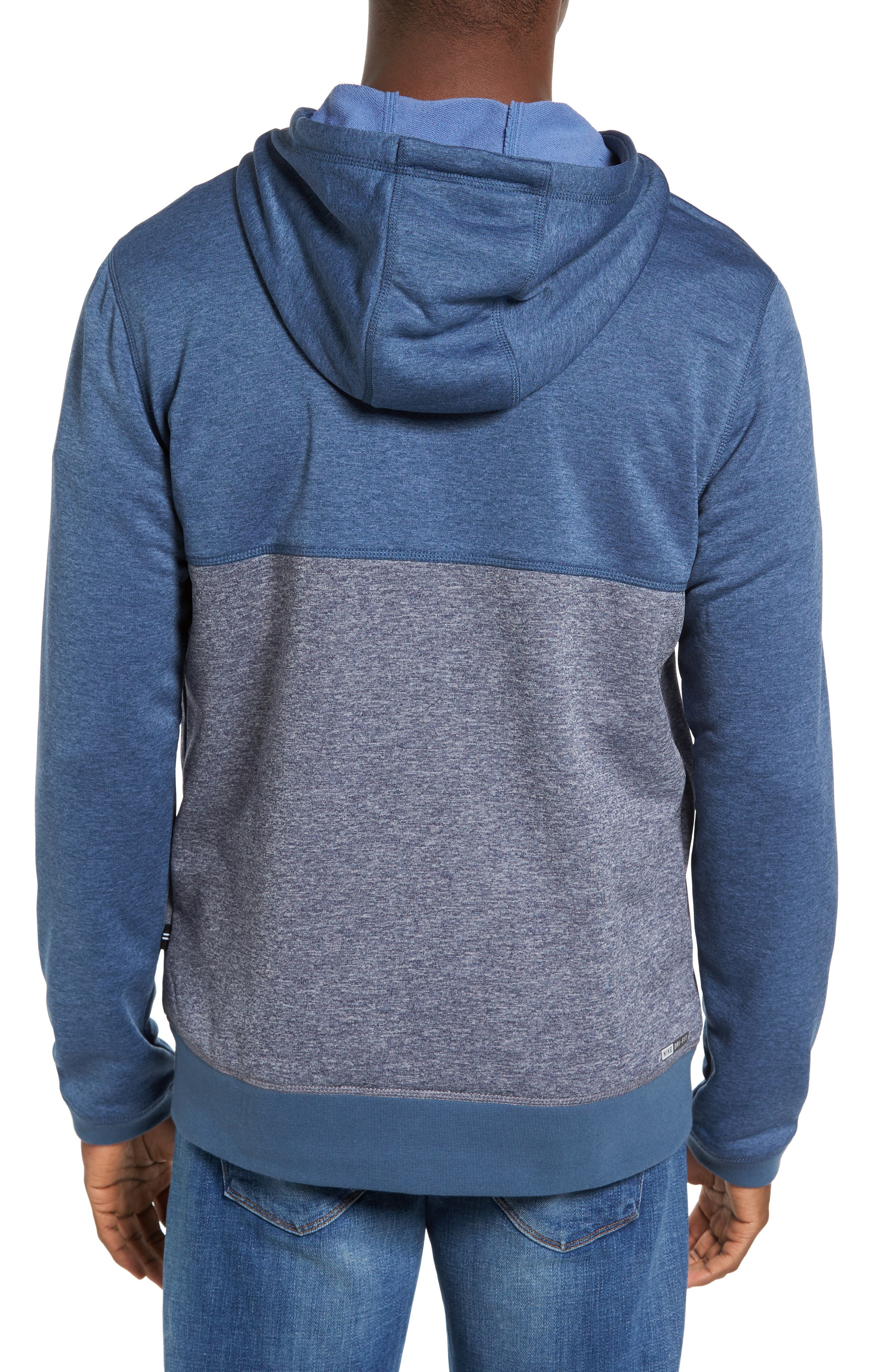 Dri-FIT Disperse Colorblock Zip Hoodie,                             Alternate thumbnail 2, color,                             Squadron B