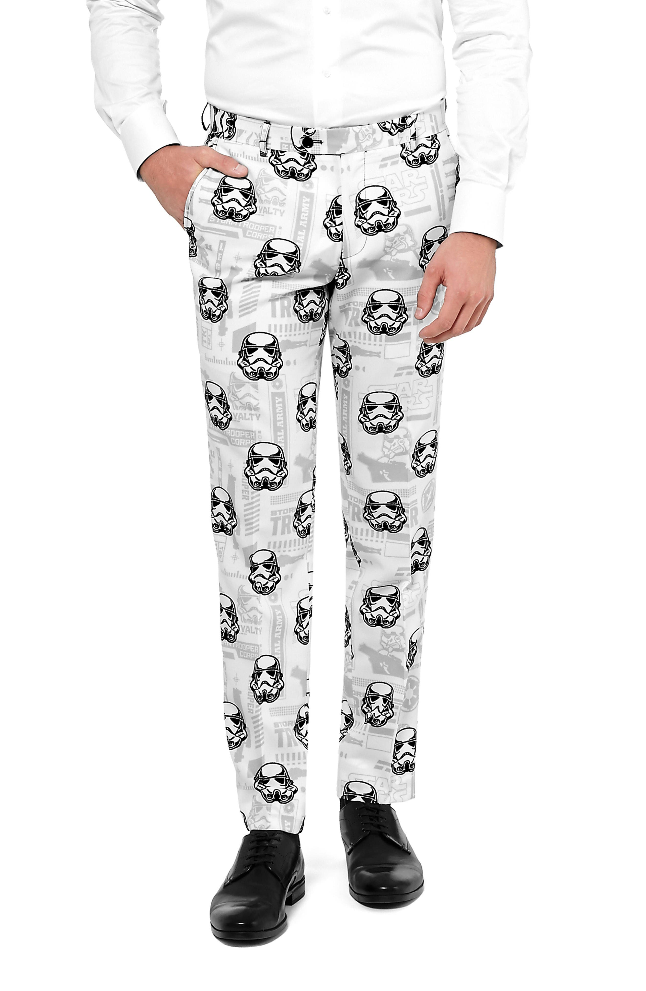 Stormtrooper Trim Fit Two-Piece Suit with Tie,                             Alternate thumbnail 2, color,                             White/ Multi