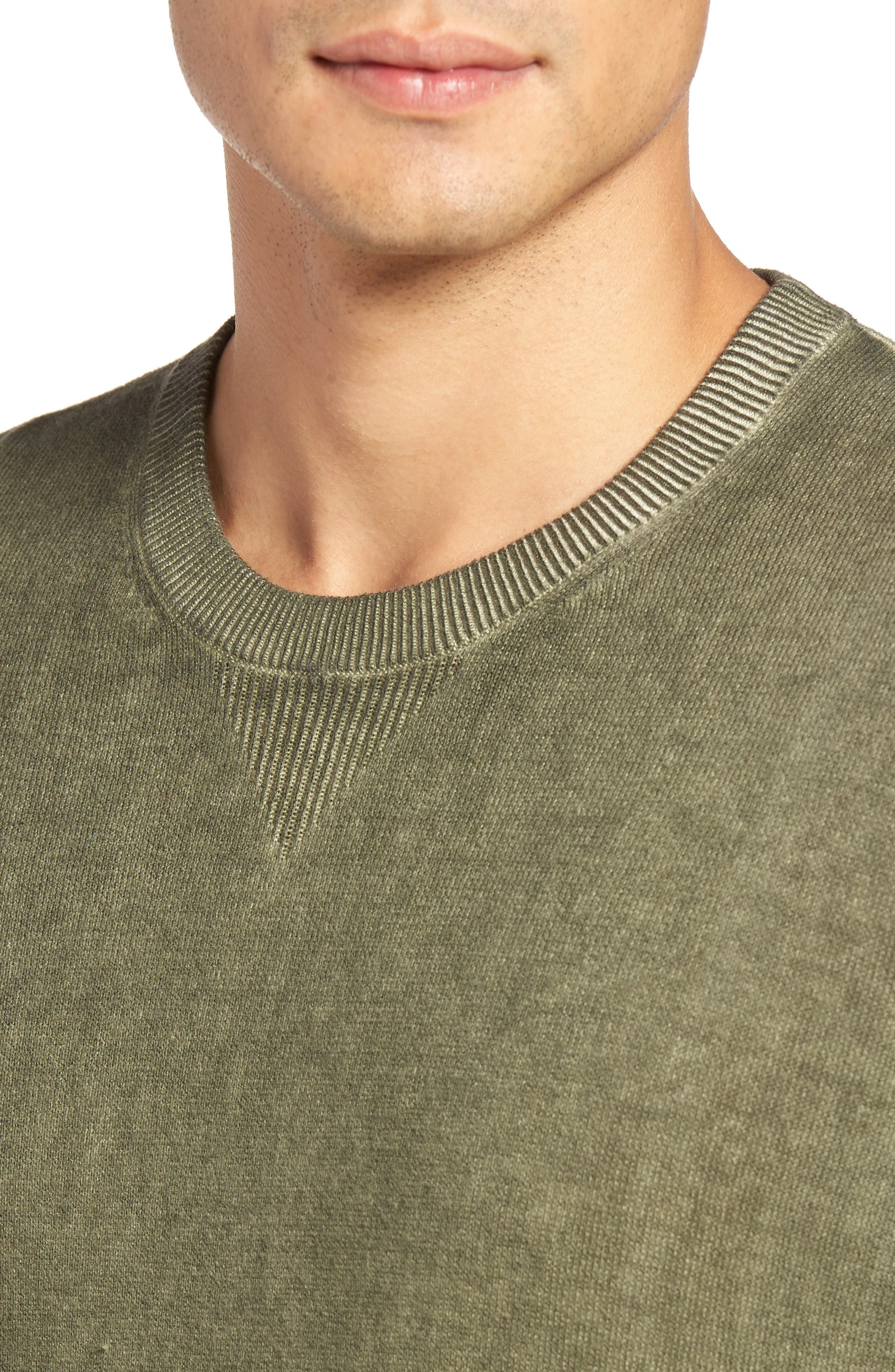 Mace Crewneck Sweater,                             Alternate thumbnail 4, color,                             Moonwash Caper Green