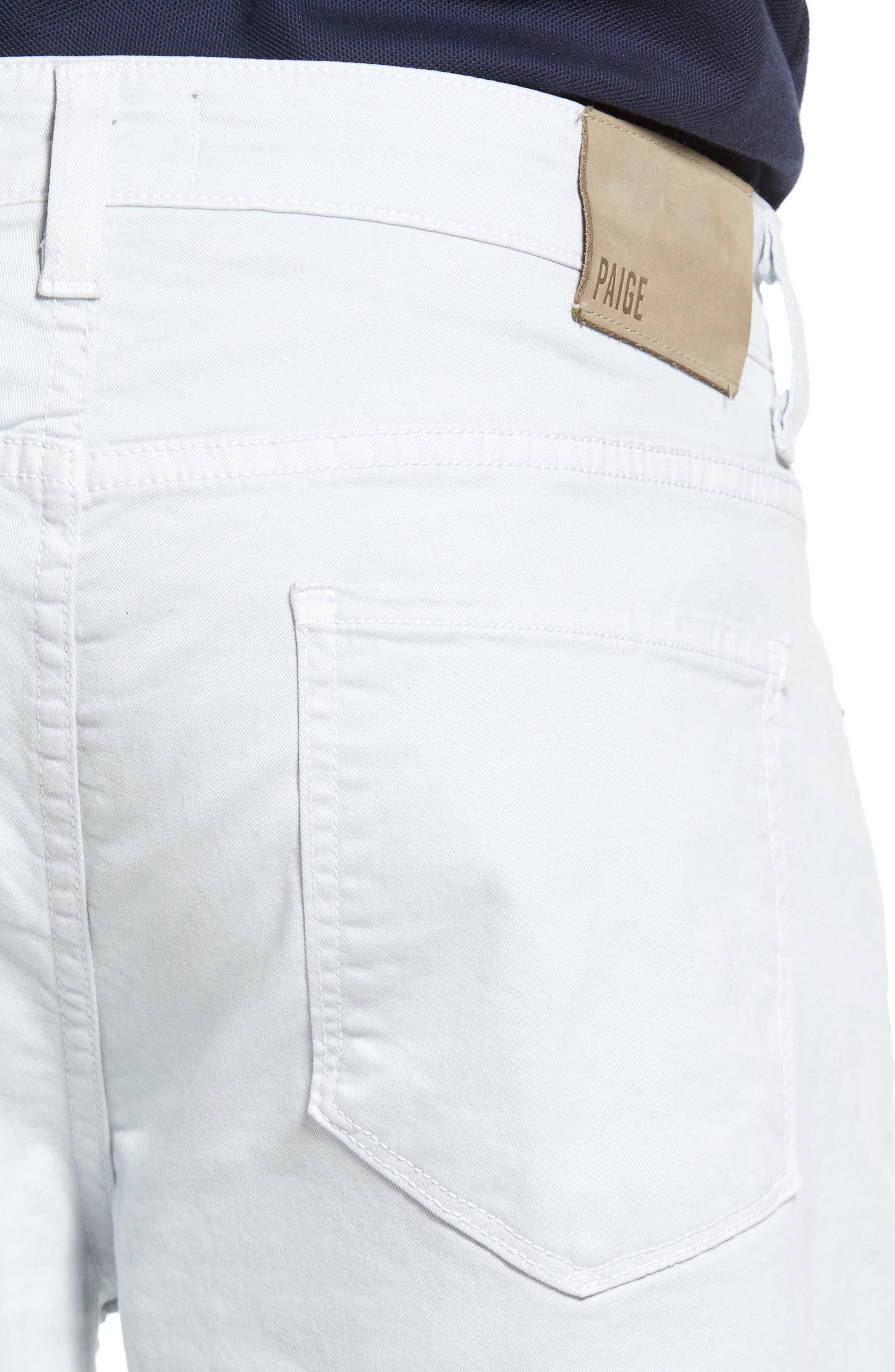 Alternate Image 4  - PAIGE 'Federal' Slim Straight Leg Twill Pants