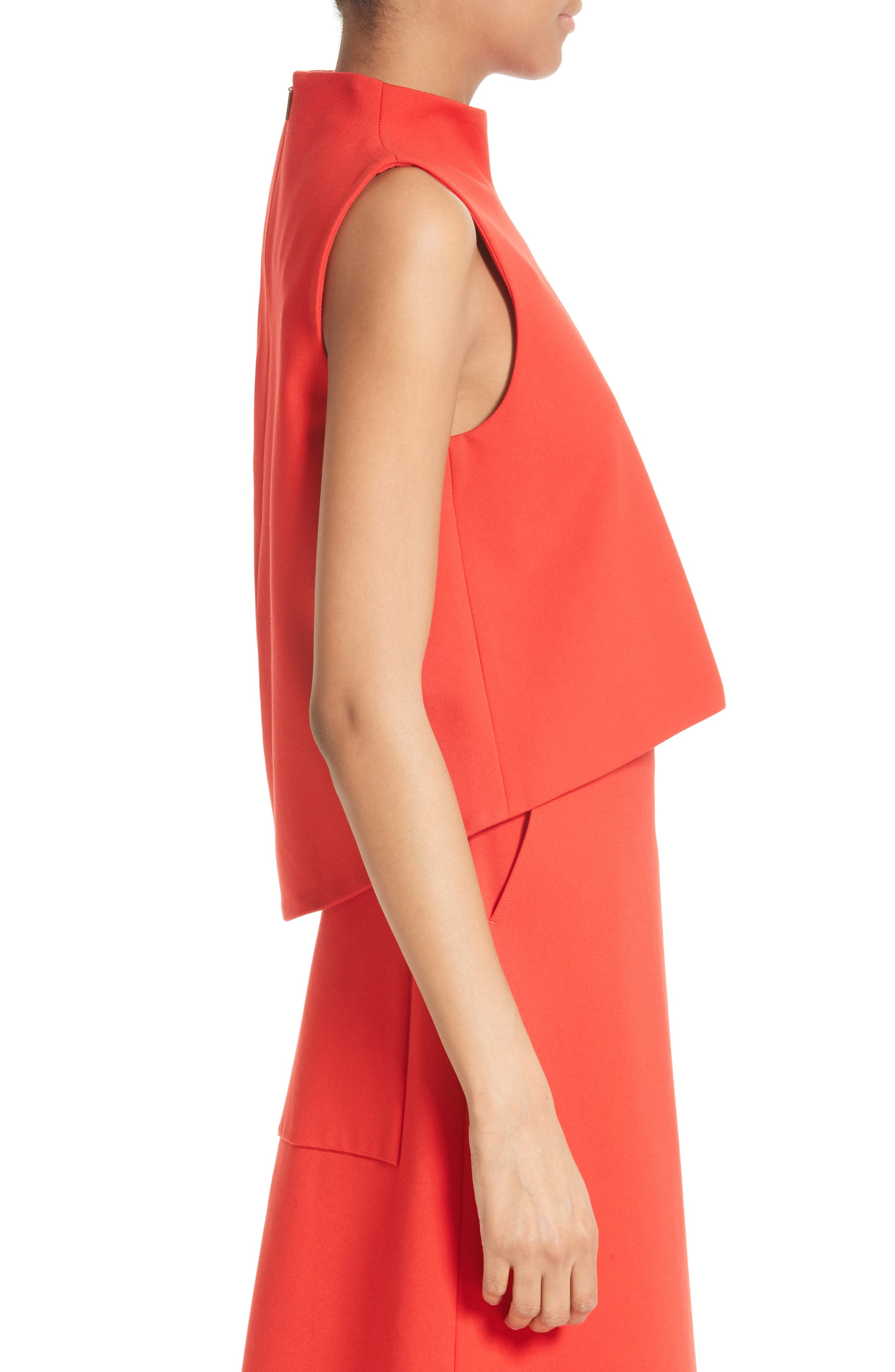 Funnel Neck Top,                             Alternate thumbnail 4, color,                             Elia Red