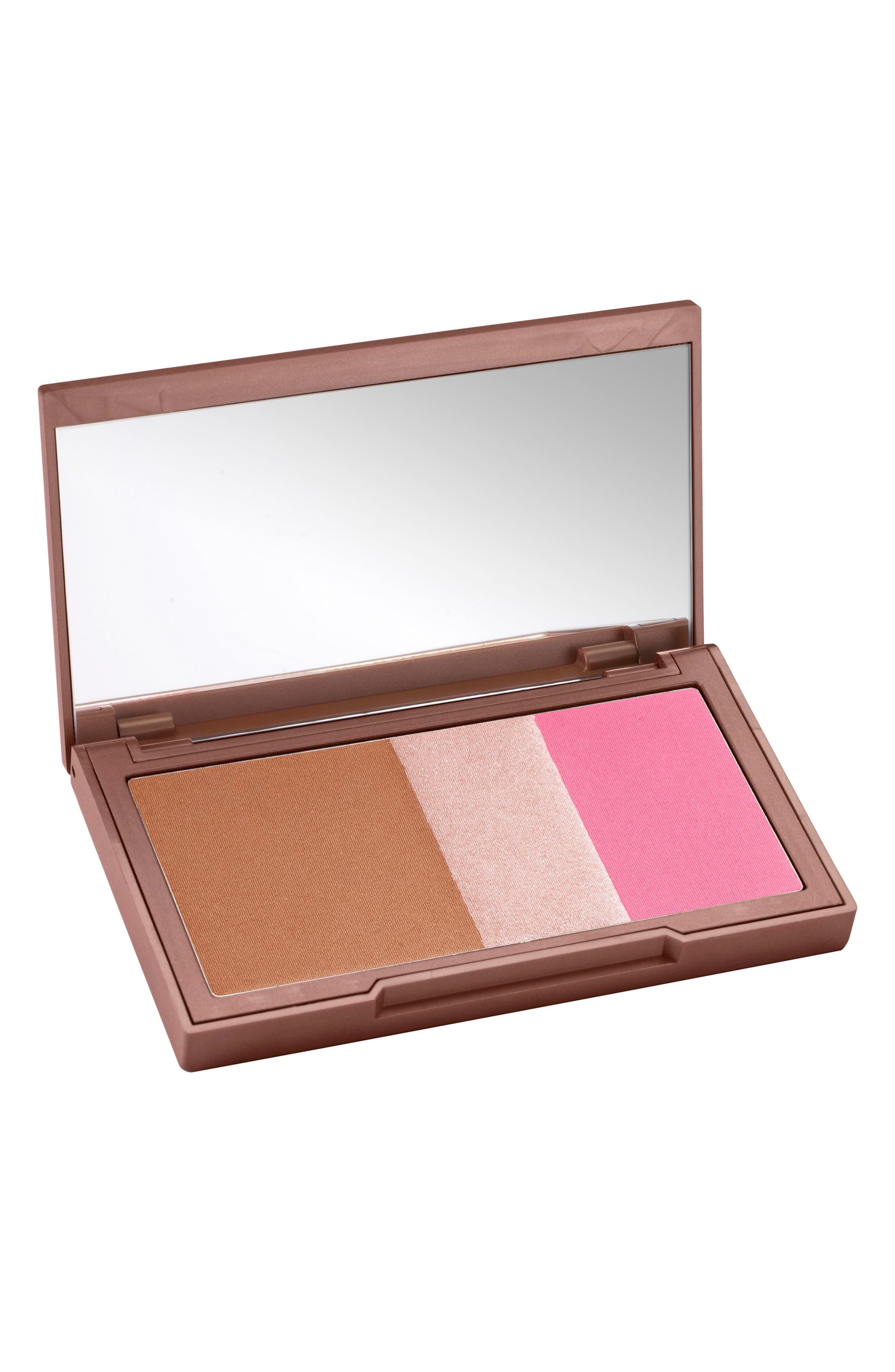 Naked Flushed Bronzer, Highlighter & Blush Palette,                             Alternate thumbnail 3, color,                             Going Native