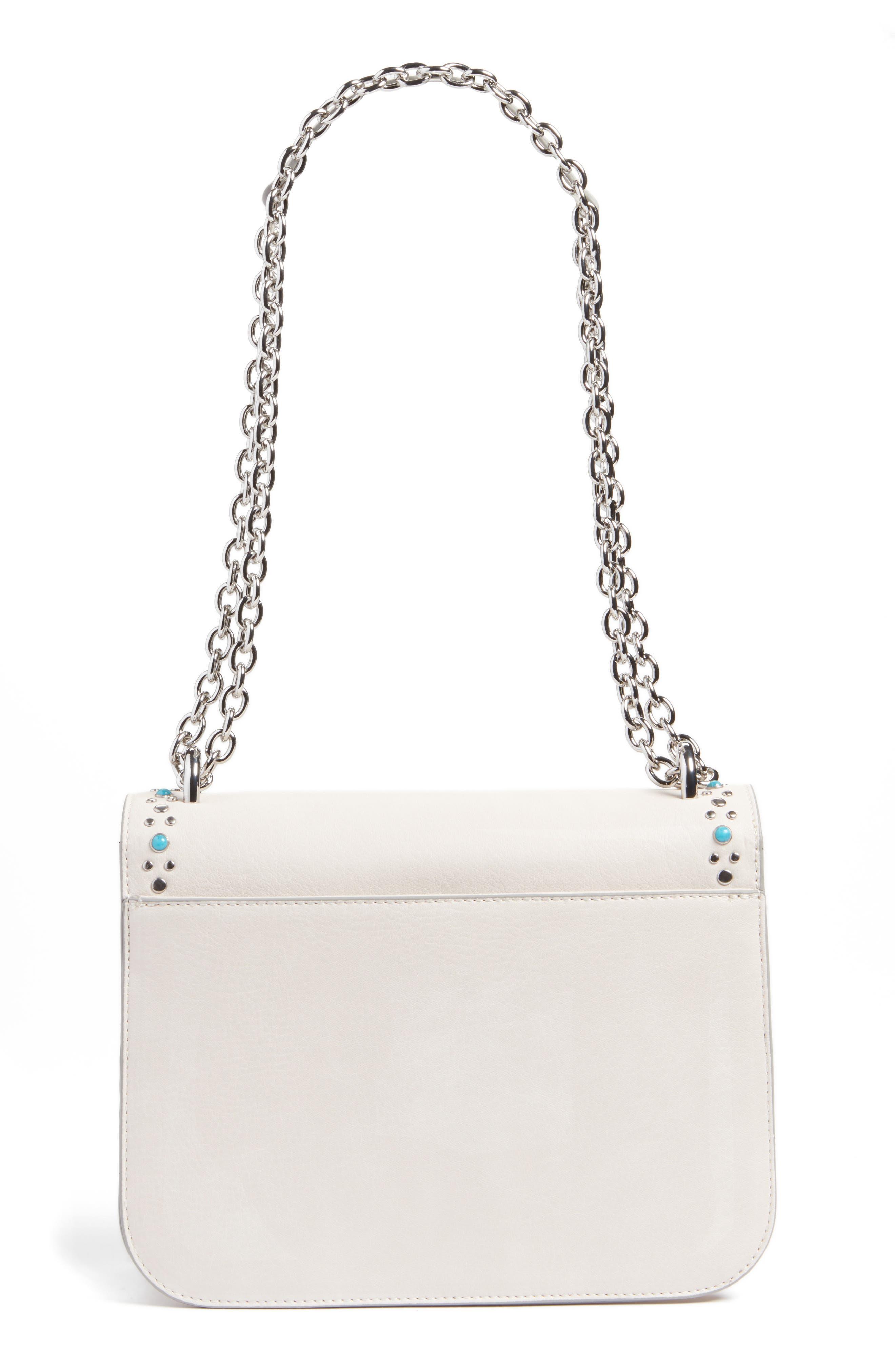 Alternate Image 3  - Chelsea28 Dahlia Stone Faux Leather Crossbody Bag