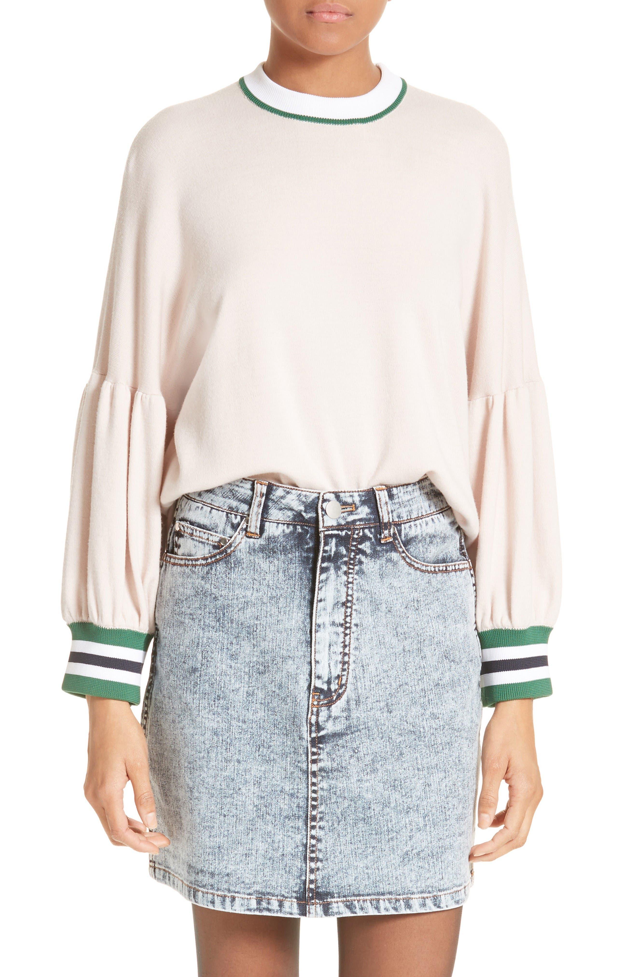 Main Image - Tibi Wool Puff Sleeve Pullover