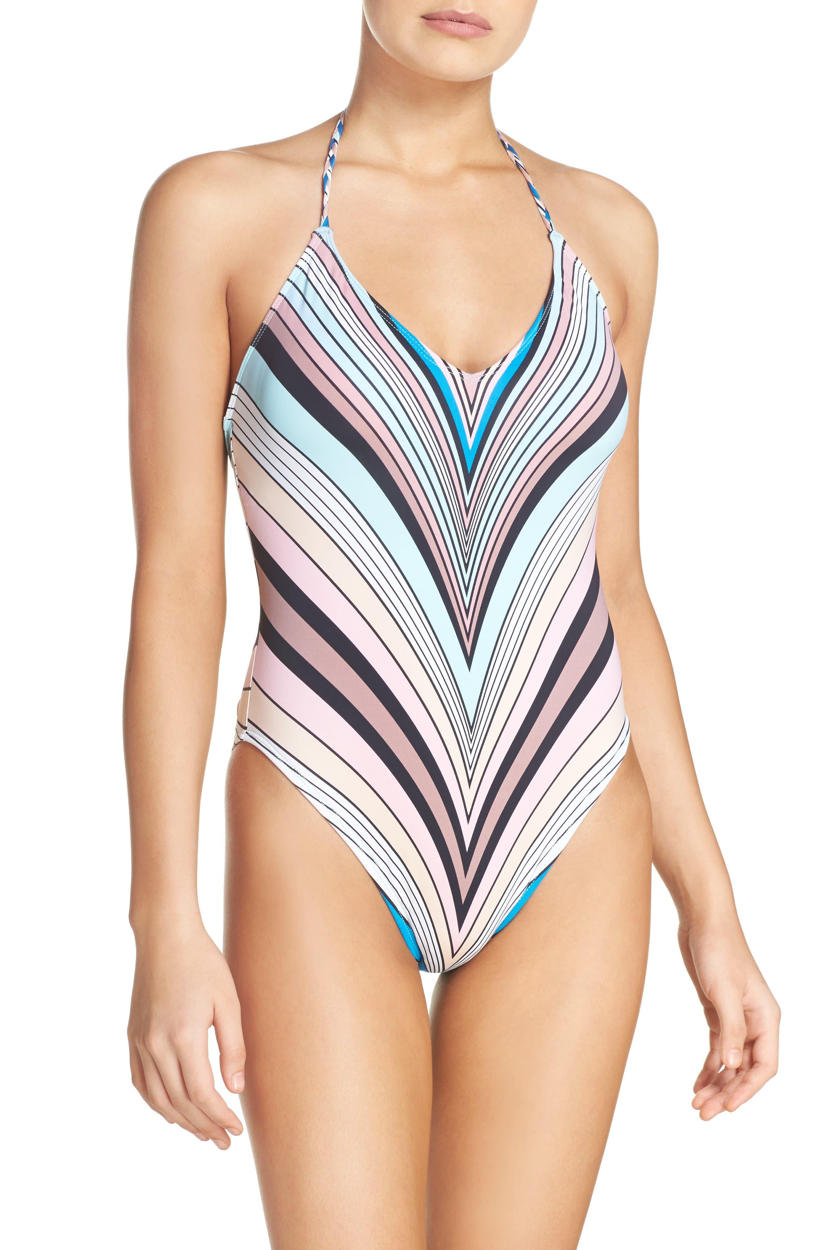 The Bikini Lab Stripe One-Piece Swimsuit