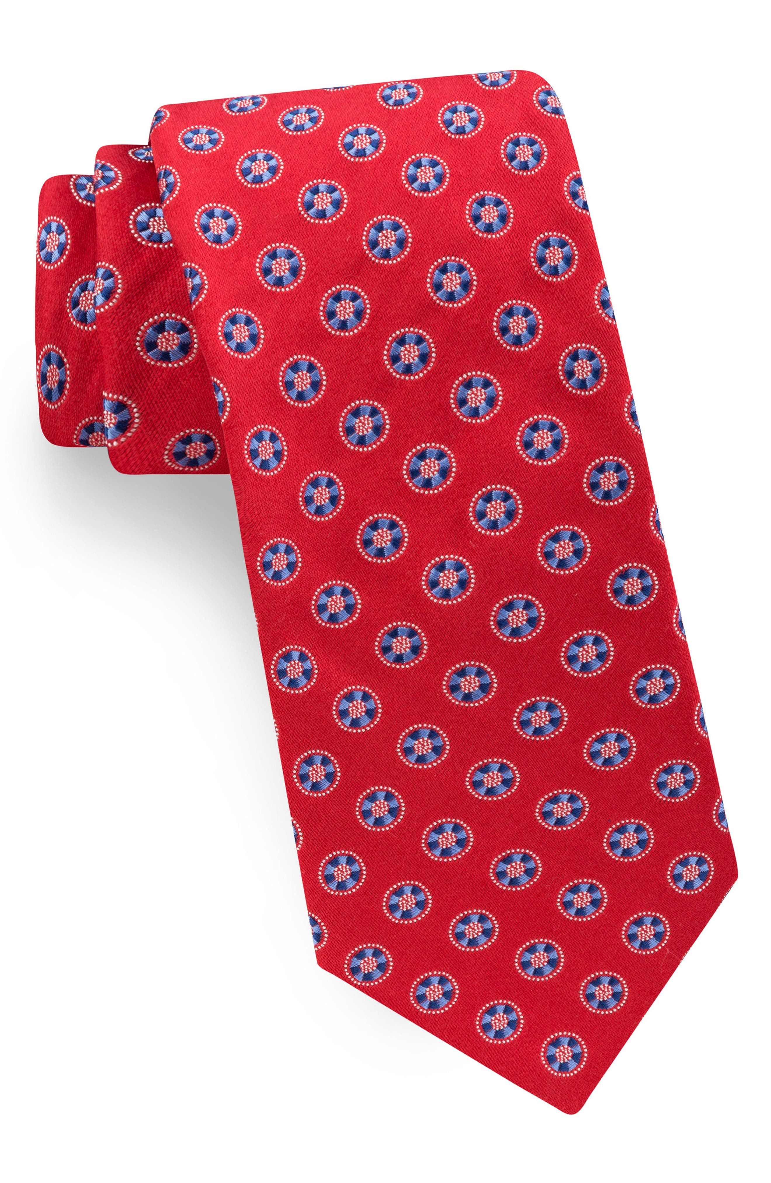 Lifesaver Medallion Silk Tie,                         Main,                         color, Red